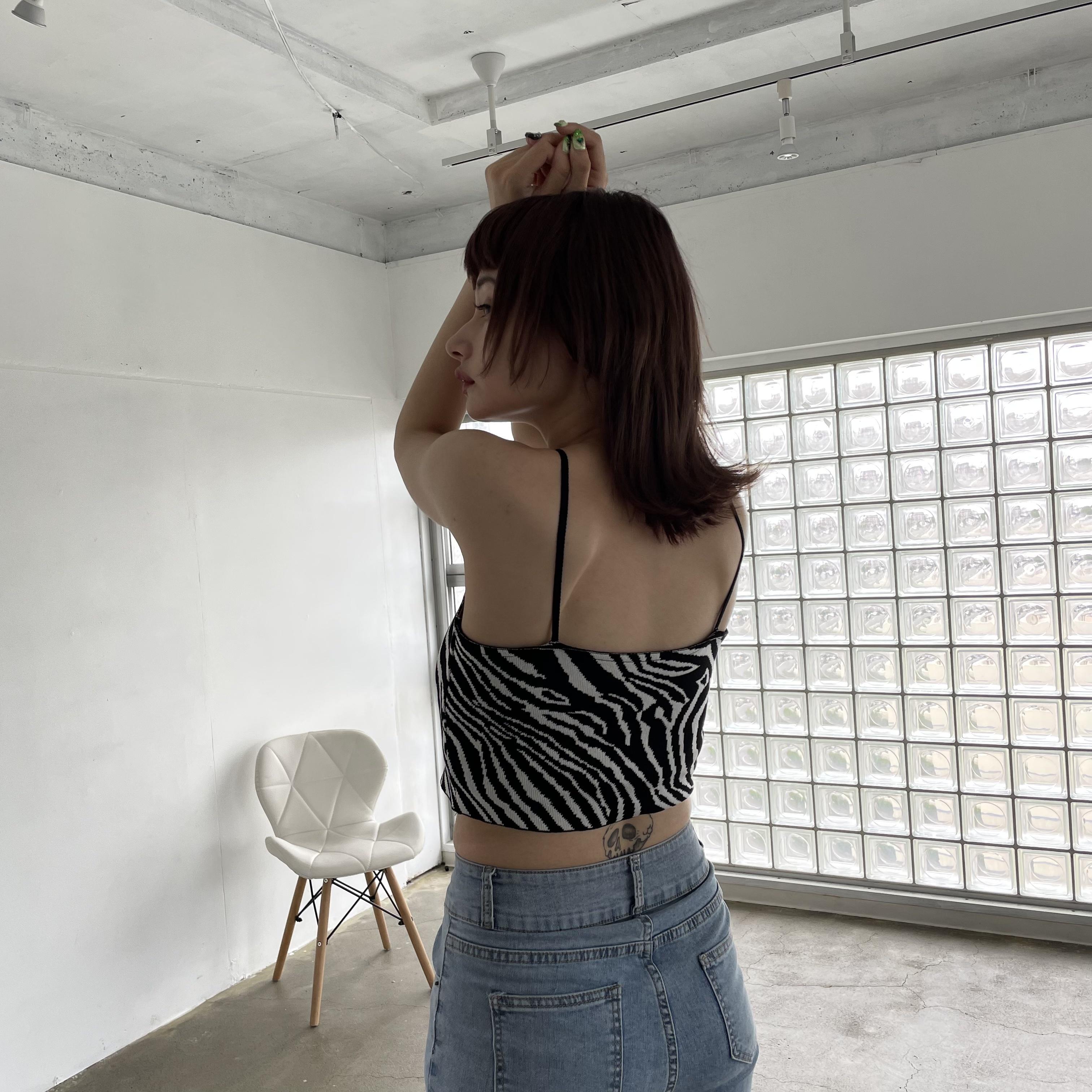 【Belle】zebra camisole
