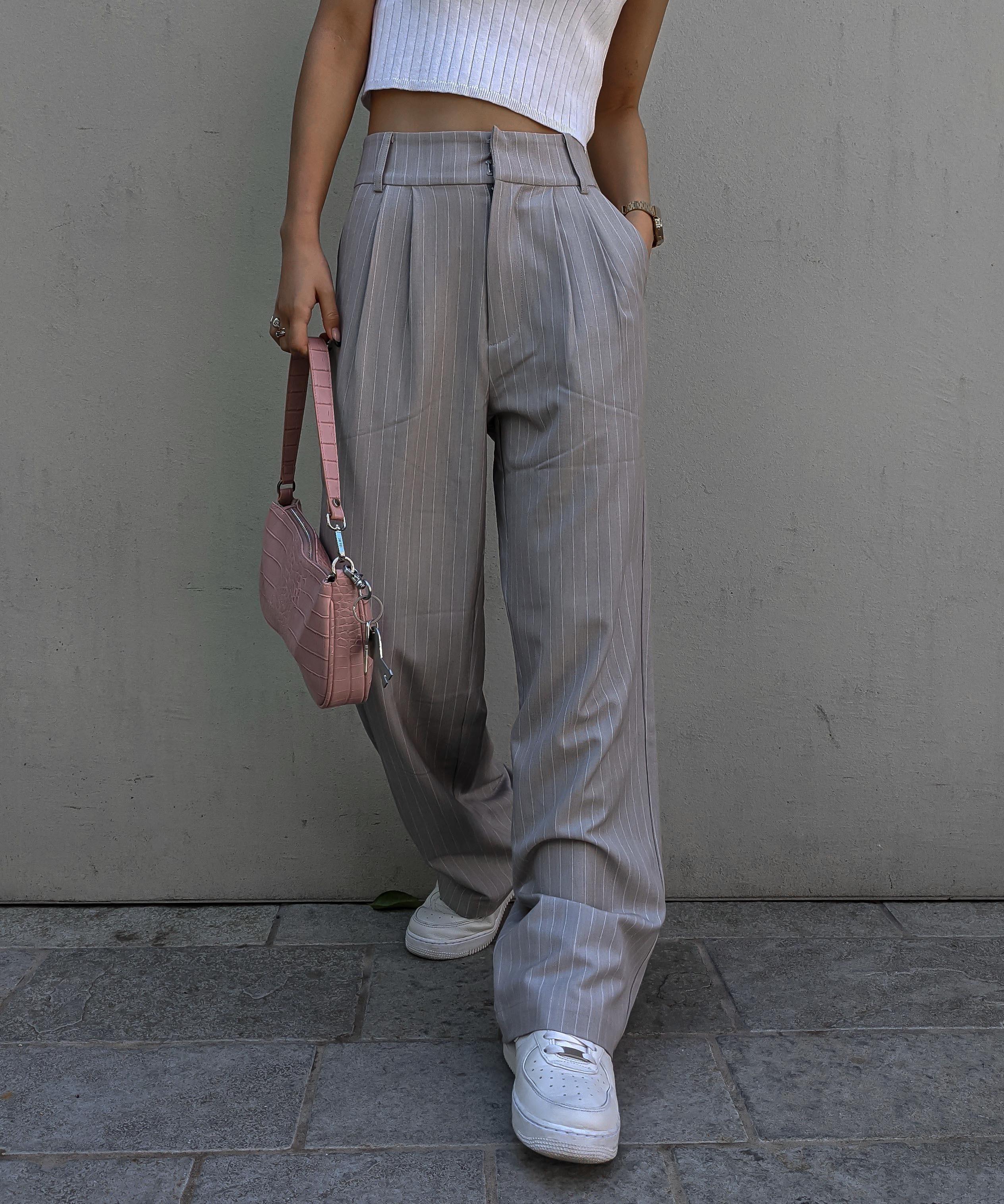 Pin stripe slacks pants