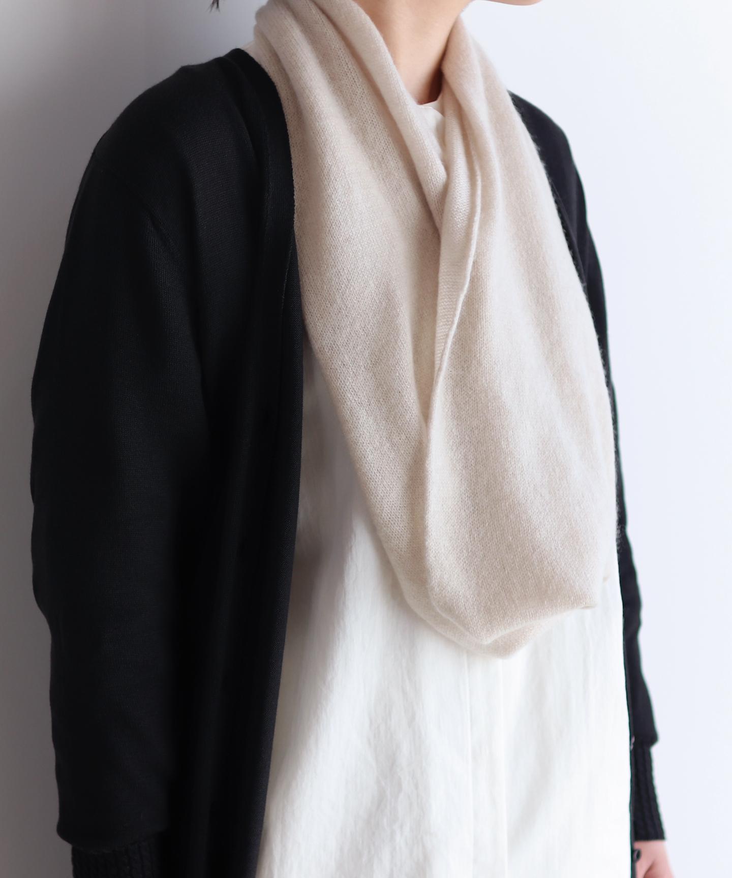 【予約販売】手編み機で編んだ カシミヤ100%の【スヌード】9色 CAA-044