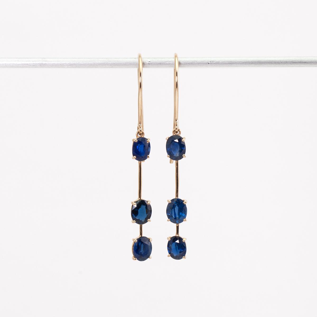 Sapphire earrings / Triple