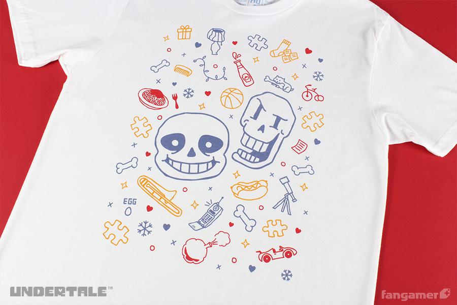 サンズとパピルスが描いてあるTシャツ / UNDERTALE ( アンダーテイル )