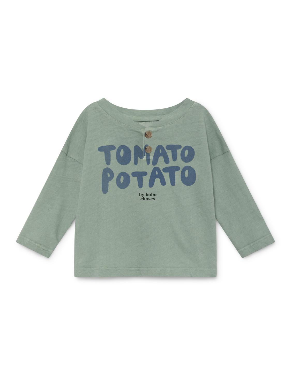 《BOBO CHOSES 2019SS》Tomato potato buttons T-shirt / 12-36M