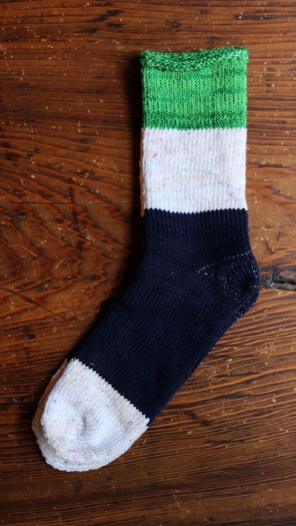 ASEEDONCLOUD/アシードンクラウド seasonal socks  / GREEN ♯201001
