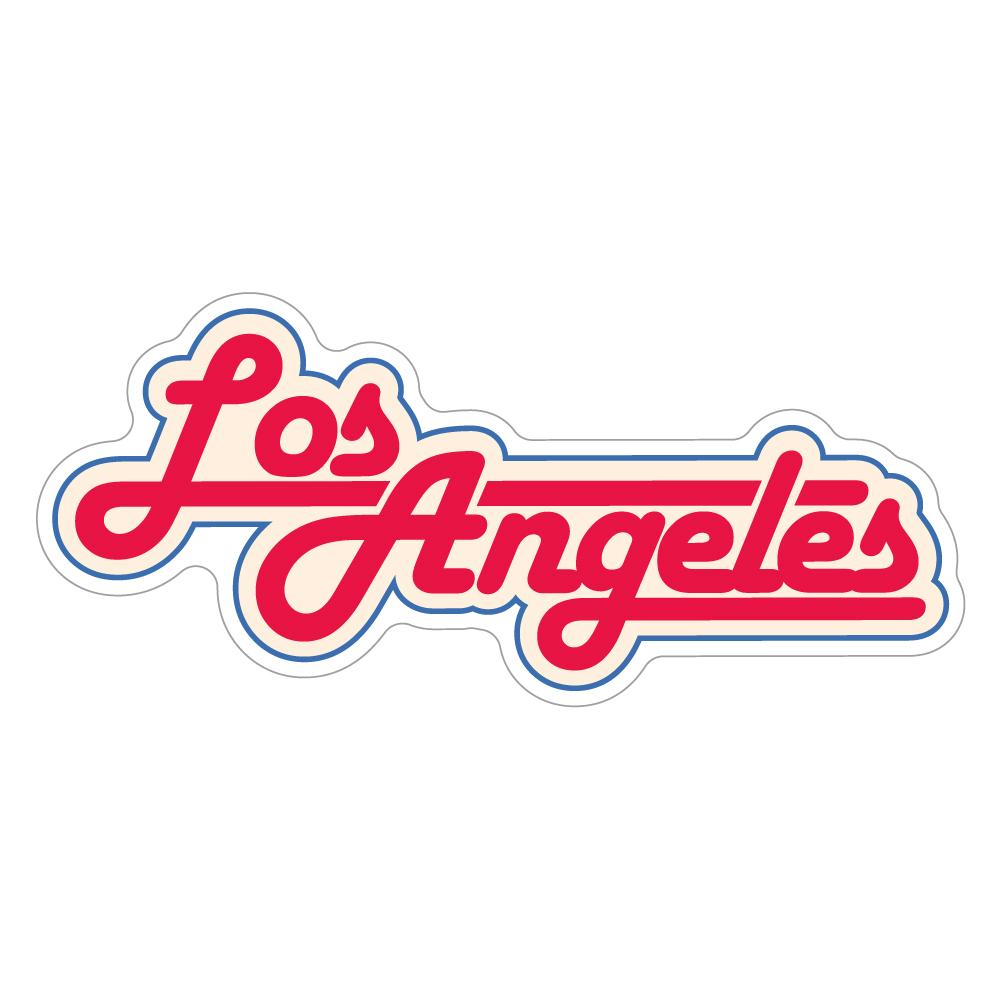 """254 レトロポップなLos Angeles """"California Market Center"""" アメリカンステッカー スーツケース シール"""
