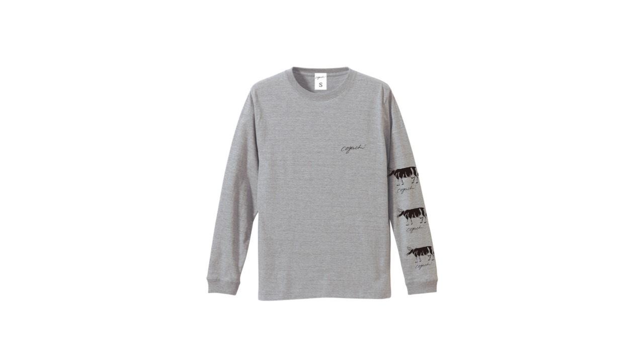 coguchi cow logo longTshirt (GRY)