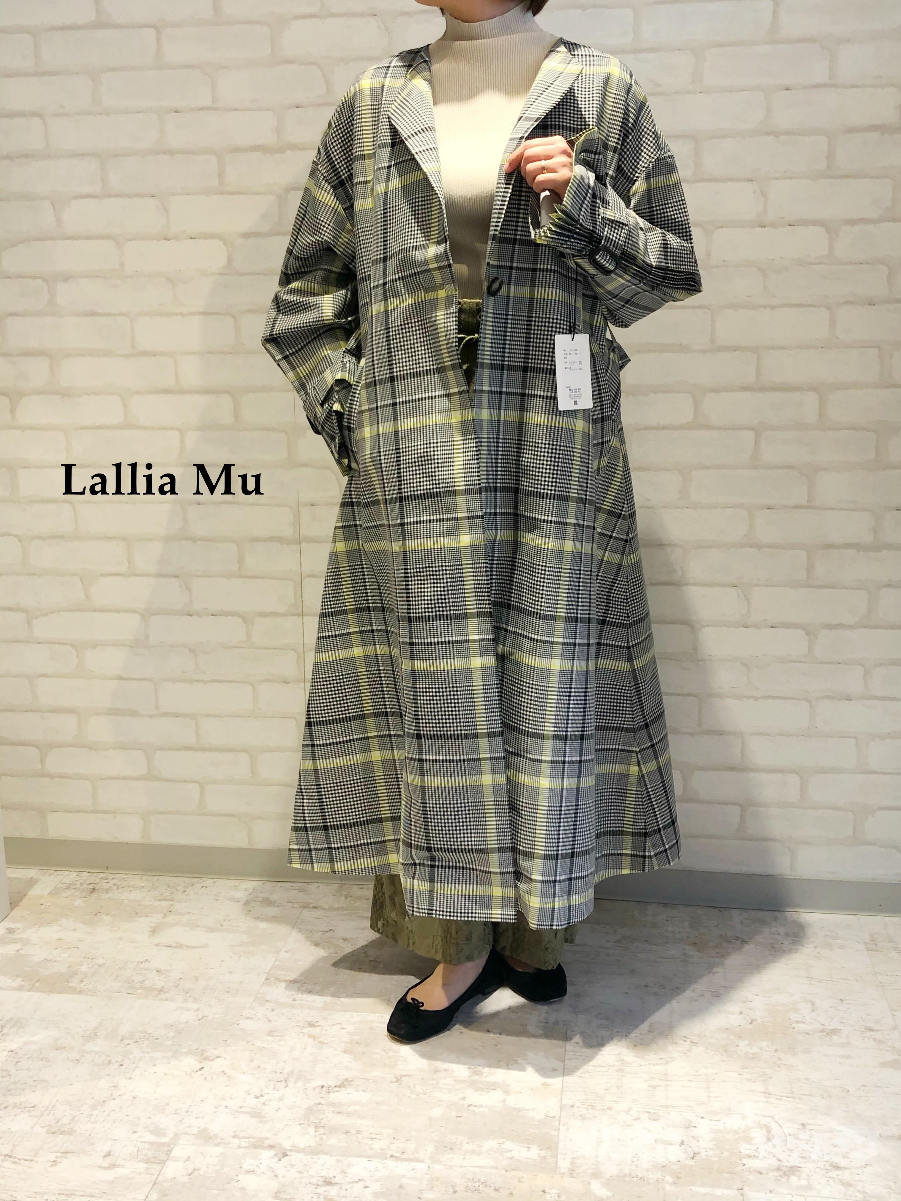 【再入荷】Lallia Mu/デザイントレンチコート/2111185(オフ)