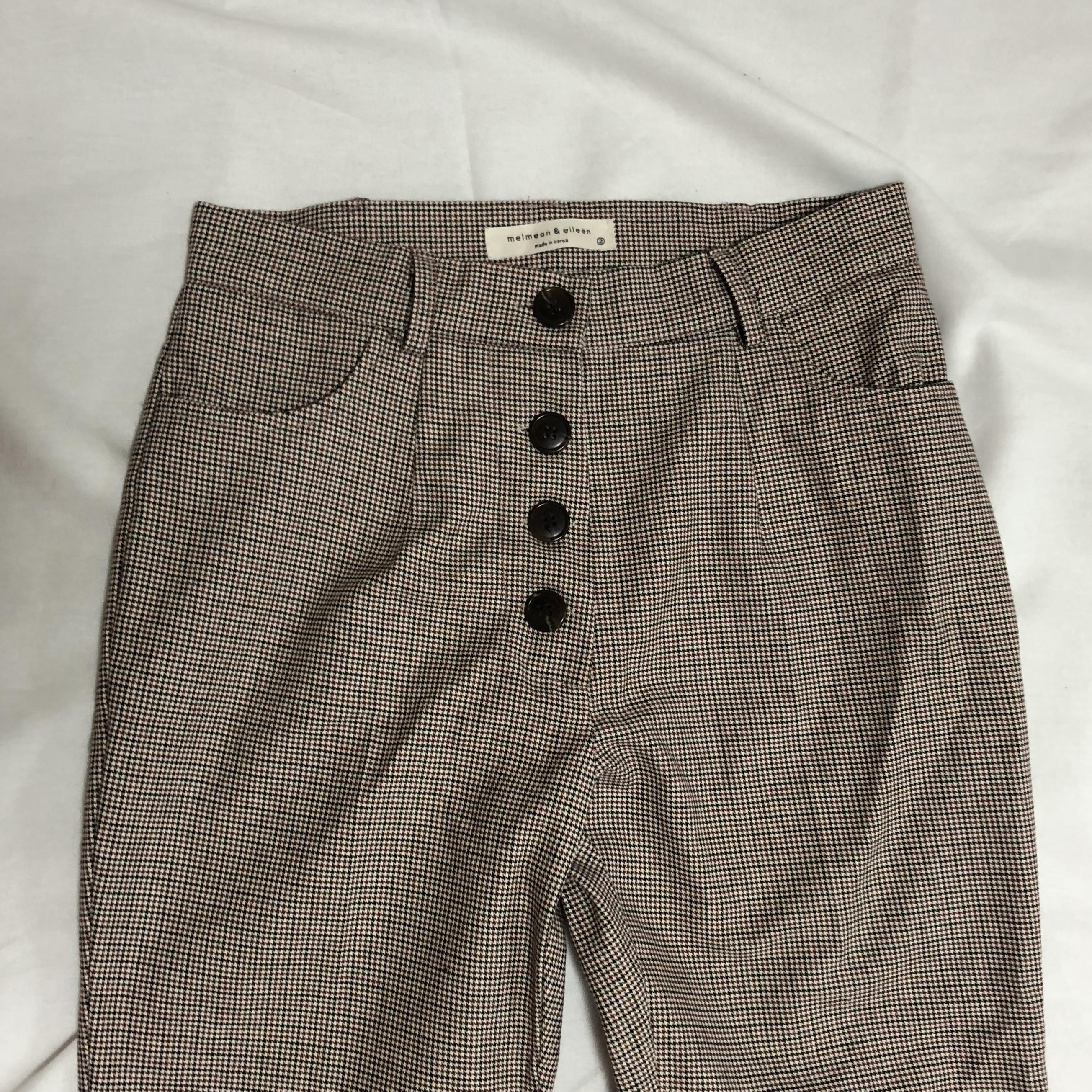 rétro check pants [red]