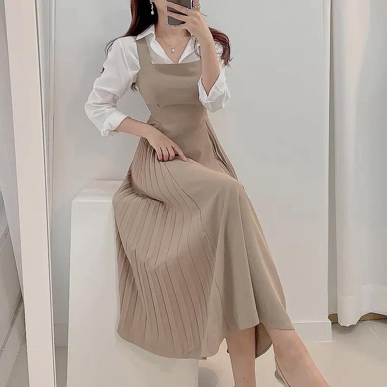 bell apron dress 2color
