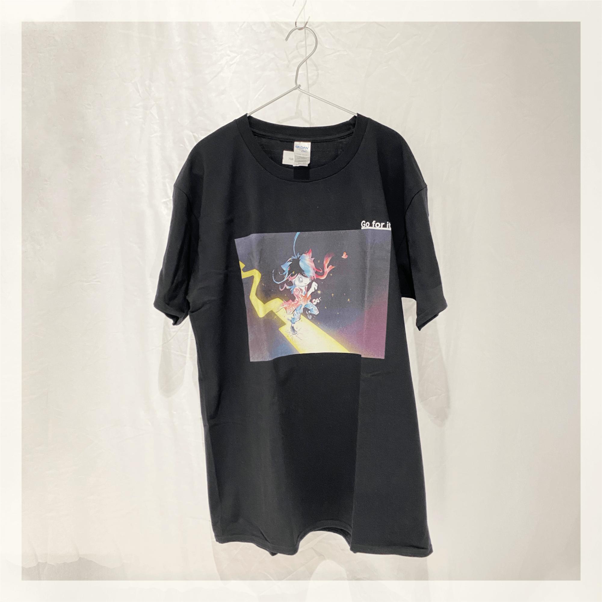 【Tシャツ】 これで良いんだ。まっすぐ進め / ブラック