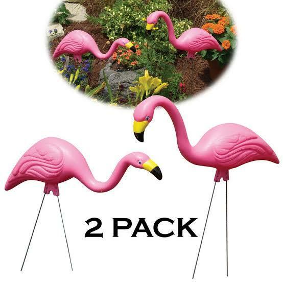 お庭にいかがですか?Pink Flamingo (2-Pack)