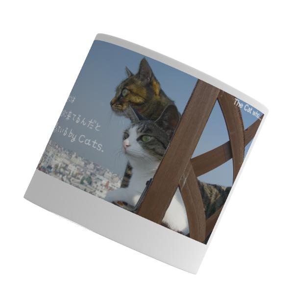 マグカップ(小)直径7.2x高さ7(cm) 青空 猫のアイシス&ジェリー(The Cat who.... ザ・キャット・フー 猫 ねこ ネコ ラッピング可能商品 贈り物 プレゼント ギフト GIFT)