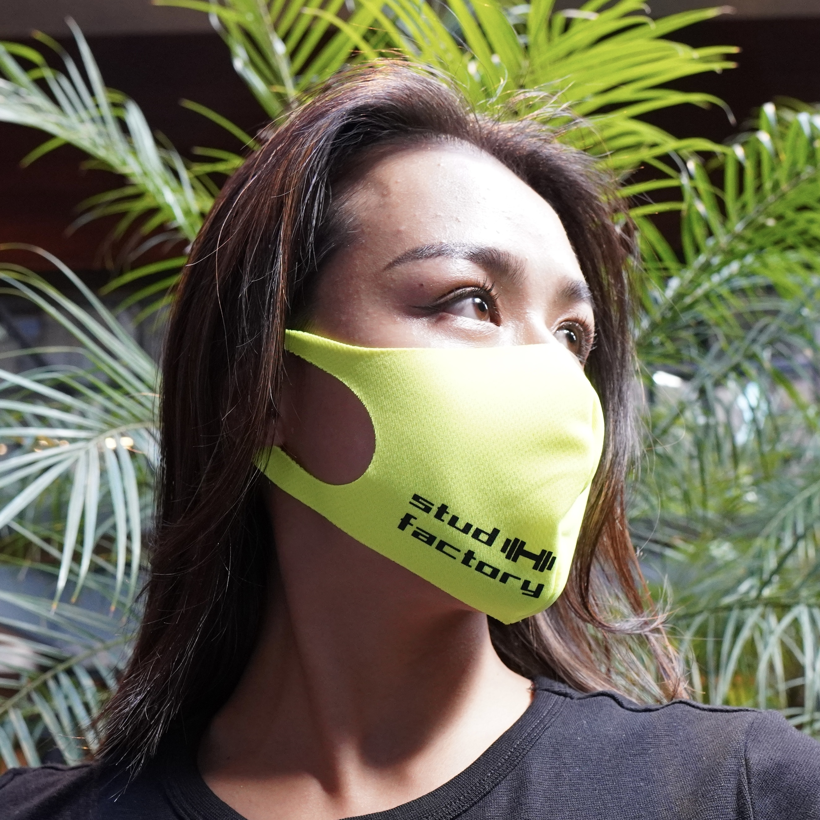 LADIES dry fit mask (FLUORESCENT YELLOW)