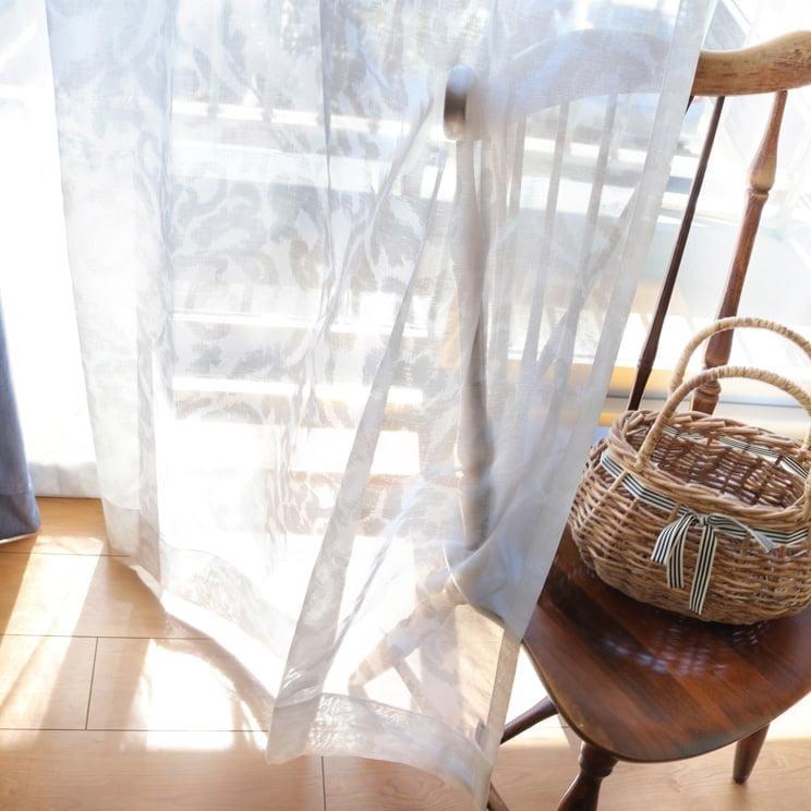 【最短6営業日で出荷】オパールレースカーテン「Shirley シャーリー ホワイト」 (幅×丈):100×198cm(2枚組) ac-0073