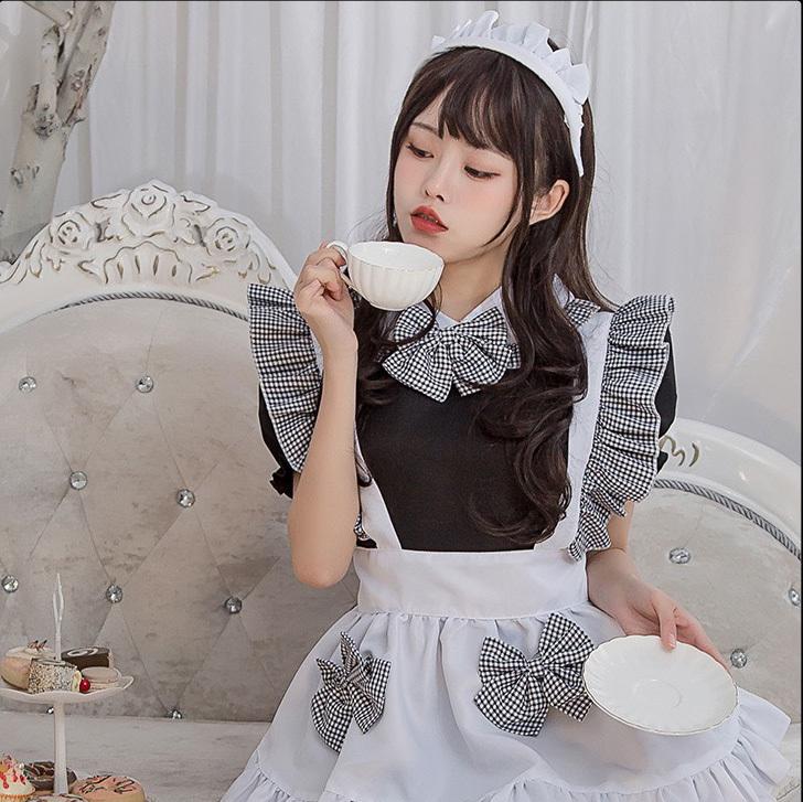 【4点セット】2021 ハロウィン メイド コスプレ かわいい 大人 キャバドレス ミニドレス MY2101