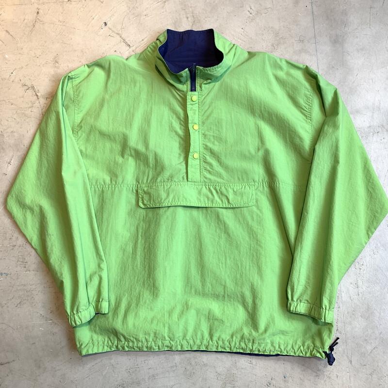80's 90's OLD GAP  ナイロンプルオーバージャケット ライトグリーン 黄緑 アノラック オールドギャッップ 香港製 LARGE グッドレギュラー 希少 ヴィンテージ BA-1298 RM1667H