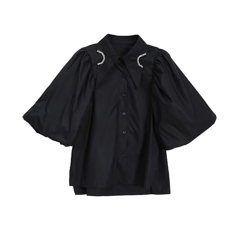 デザインパフスリーブシャツ   1-309