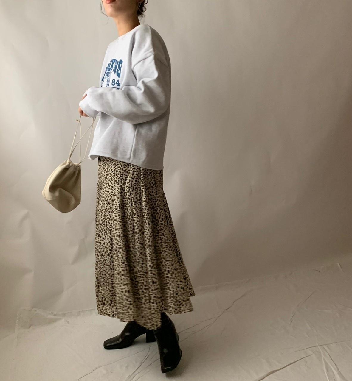 【asyu】chiffon leopard skirt
