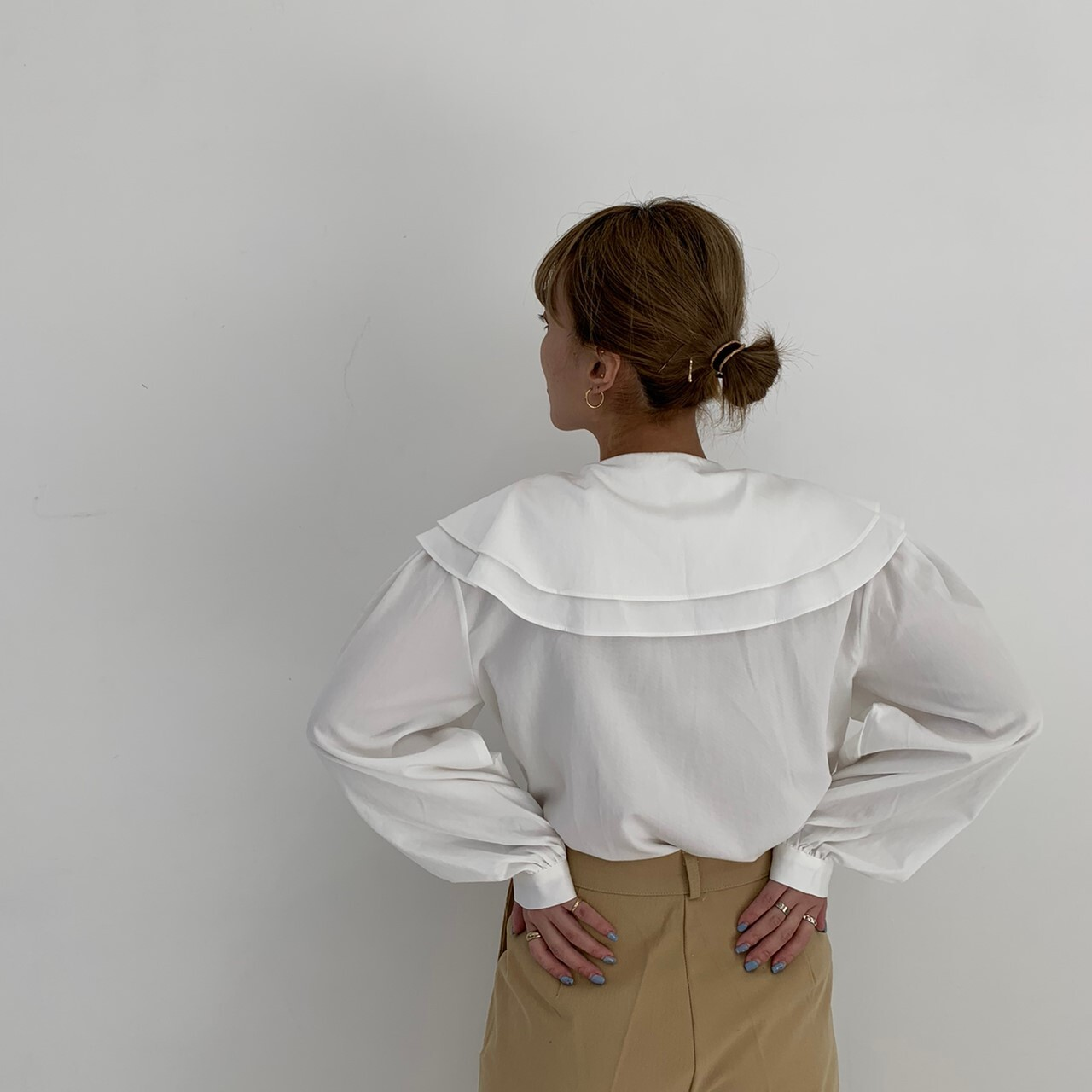 【asyu】charming collar blouse