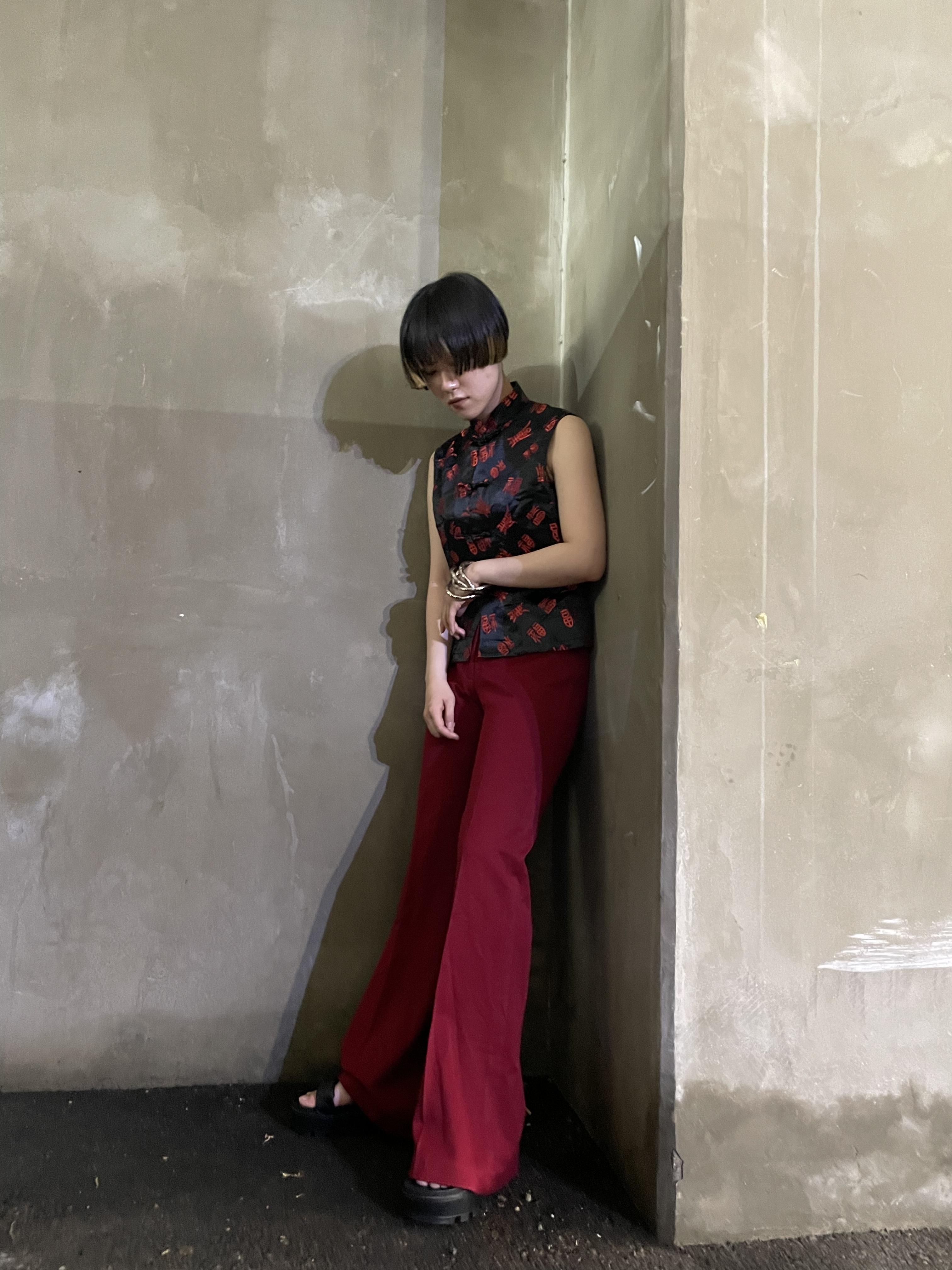 china no  sleeve tops / 7SSTP05-14