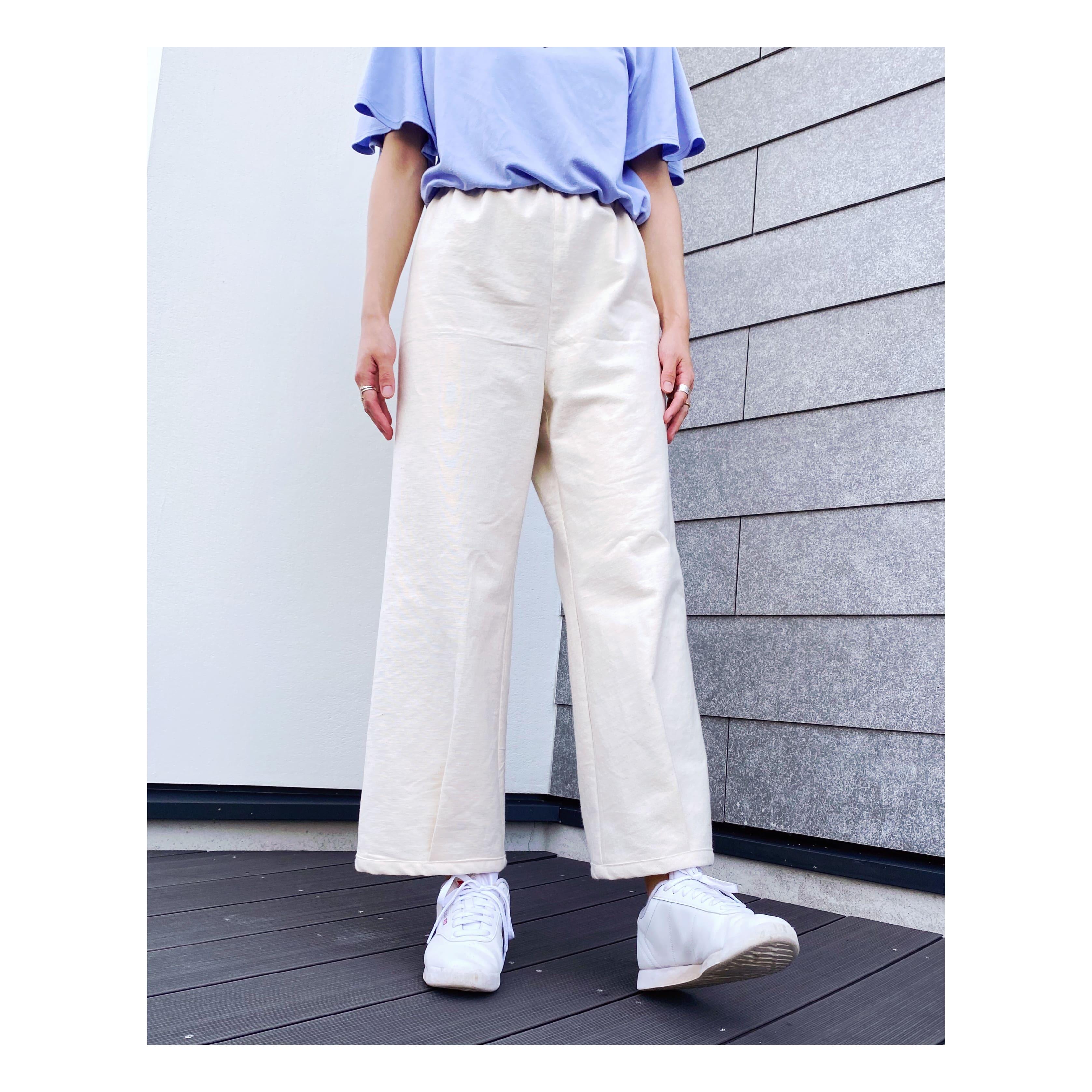 裾タックパンツ型紙【紙版/レシピ付き】商用利用可能