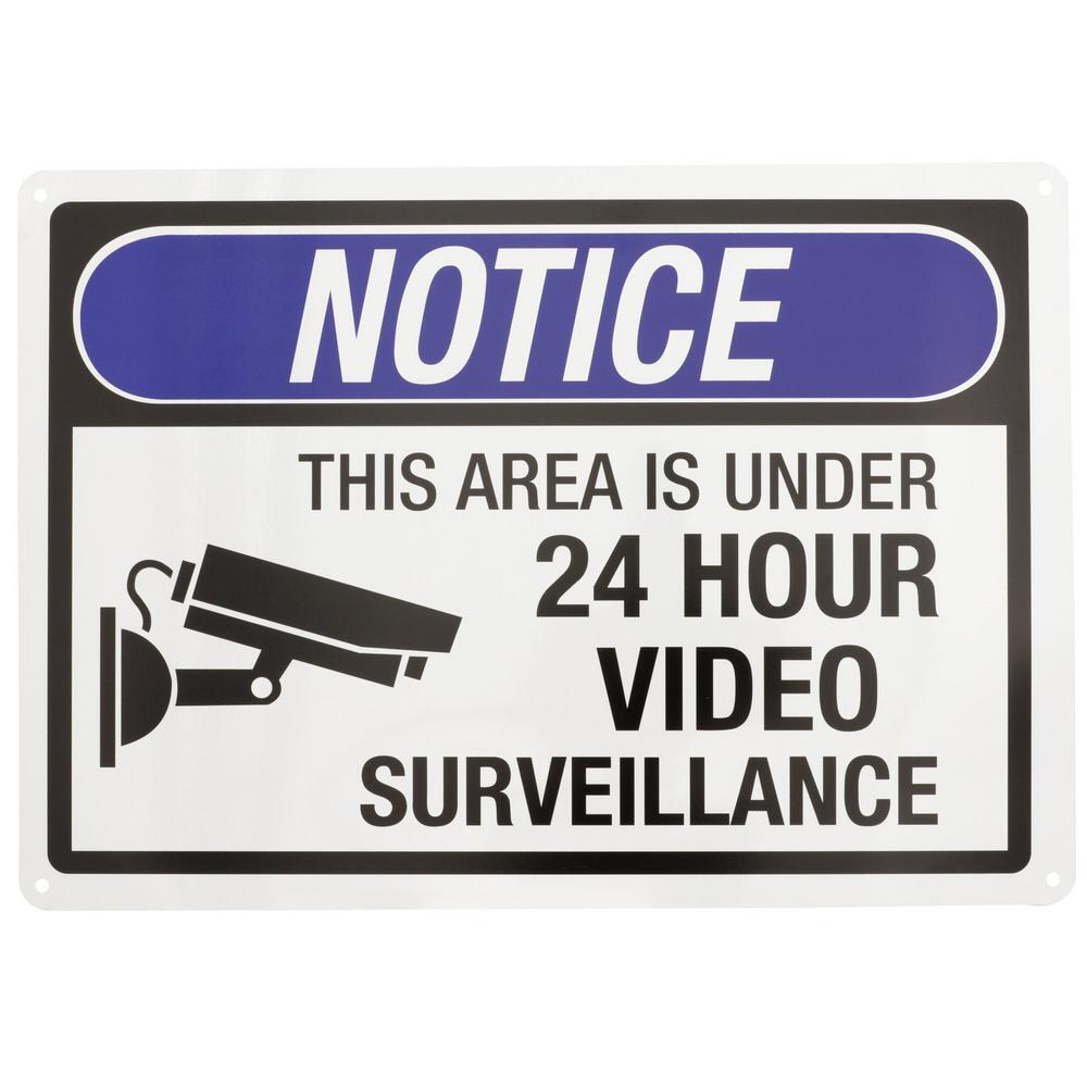 24時間ビデオ監視サイン