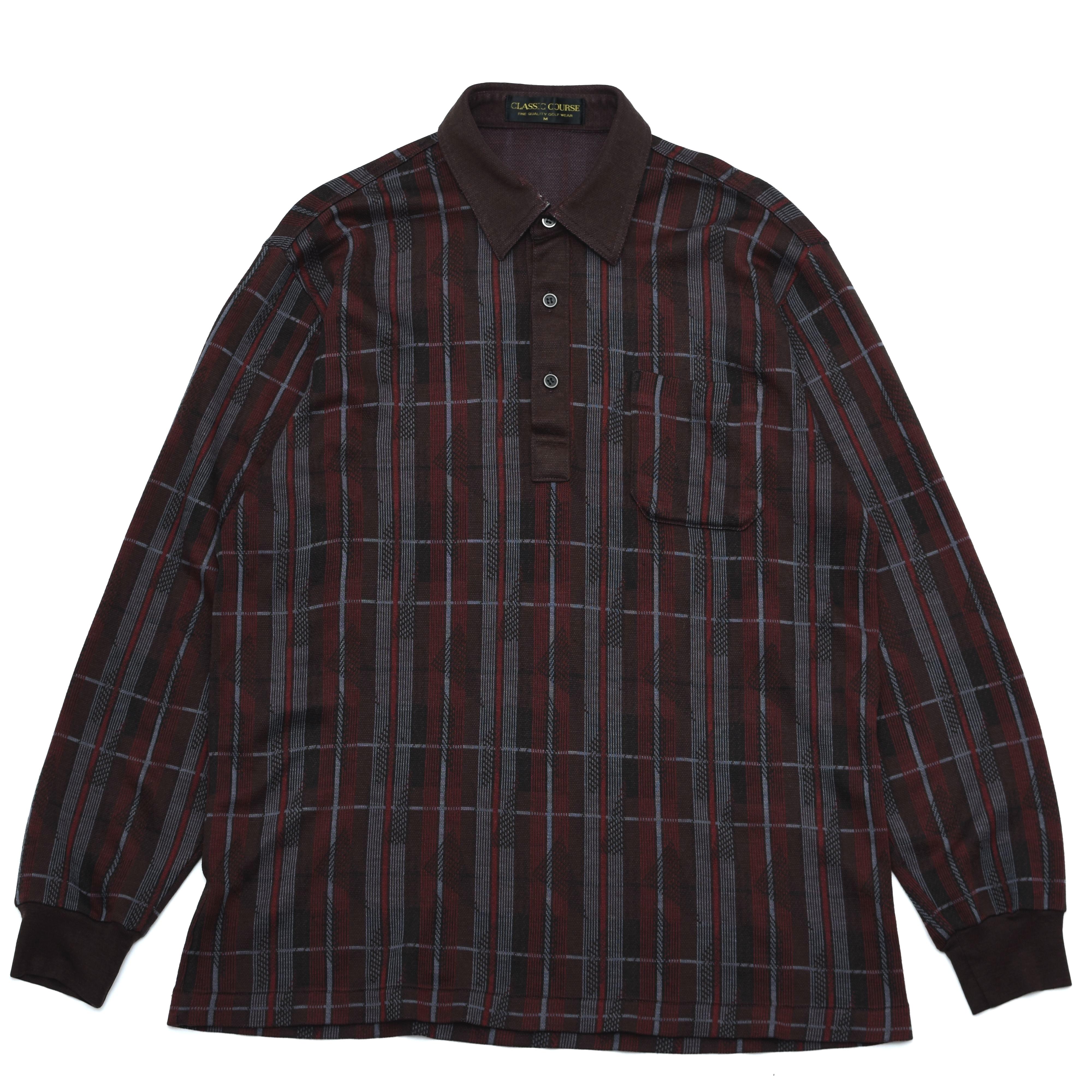 Check polyester polo shirt