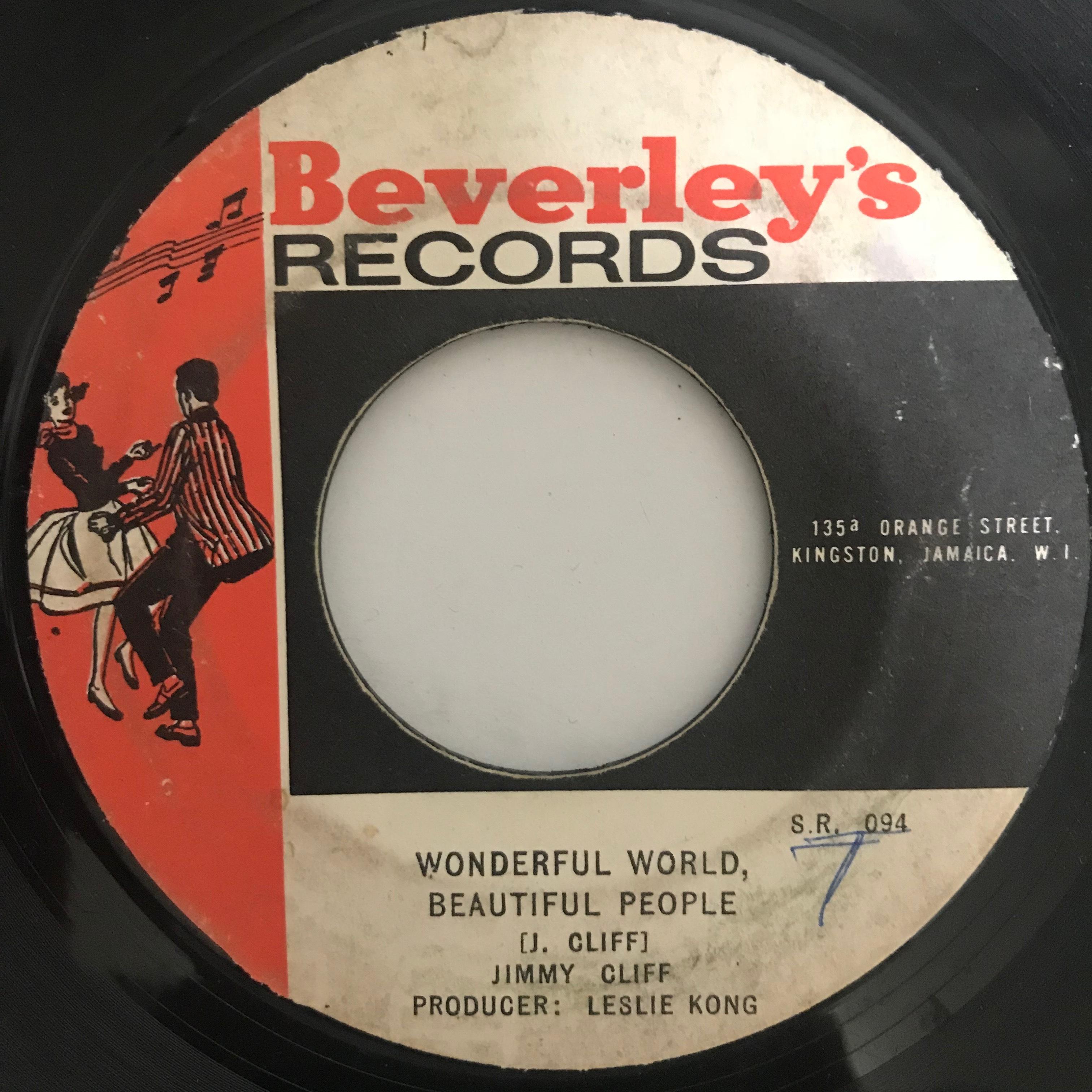 Jimmy Cliff(ジミークリフ) - Wonderful World Beautiful People【7-10772】