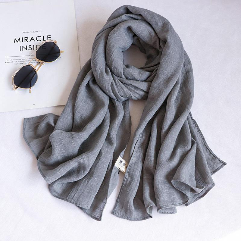 綿麻のスカーフ   A-041