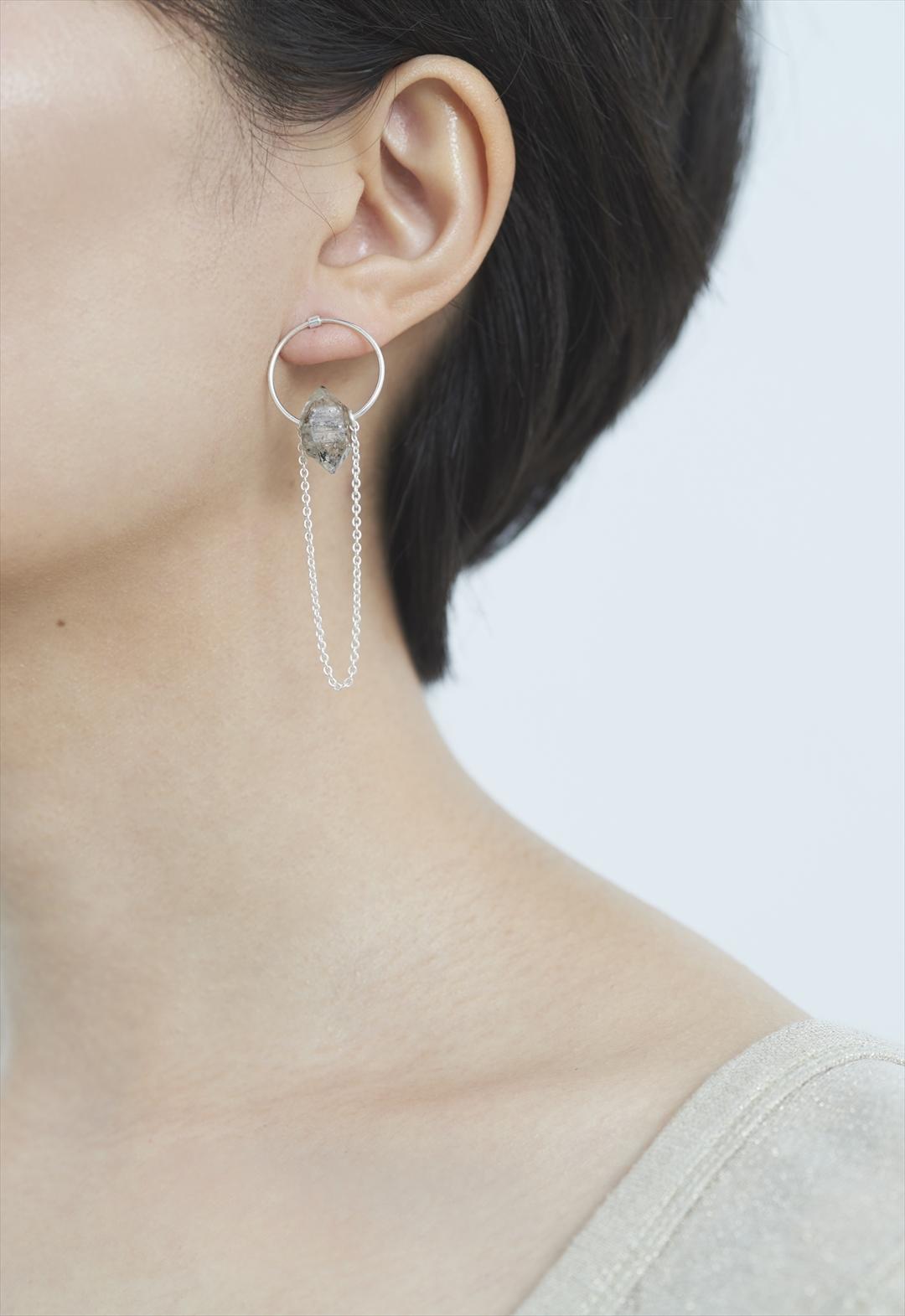 notice stone pierce-herkimer diamond Silver