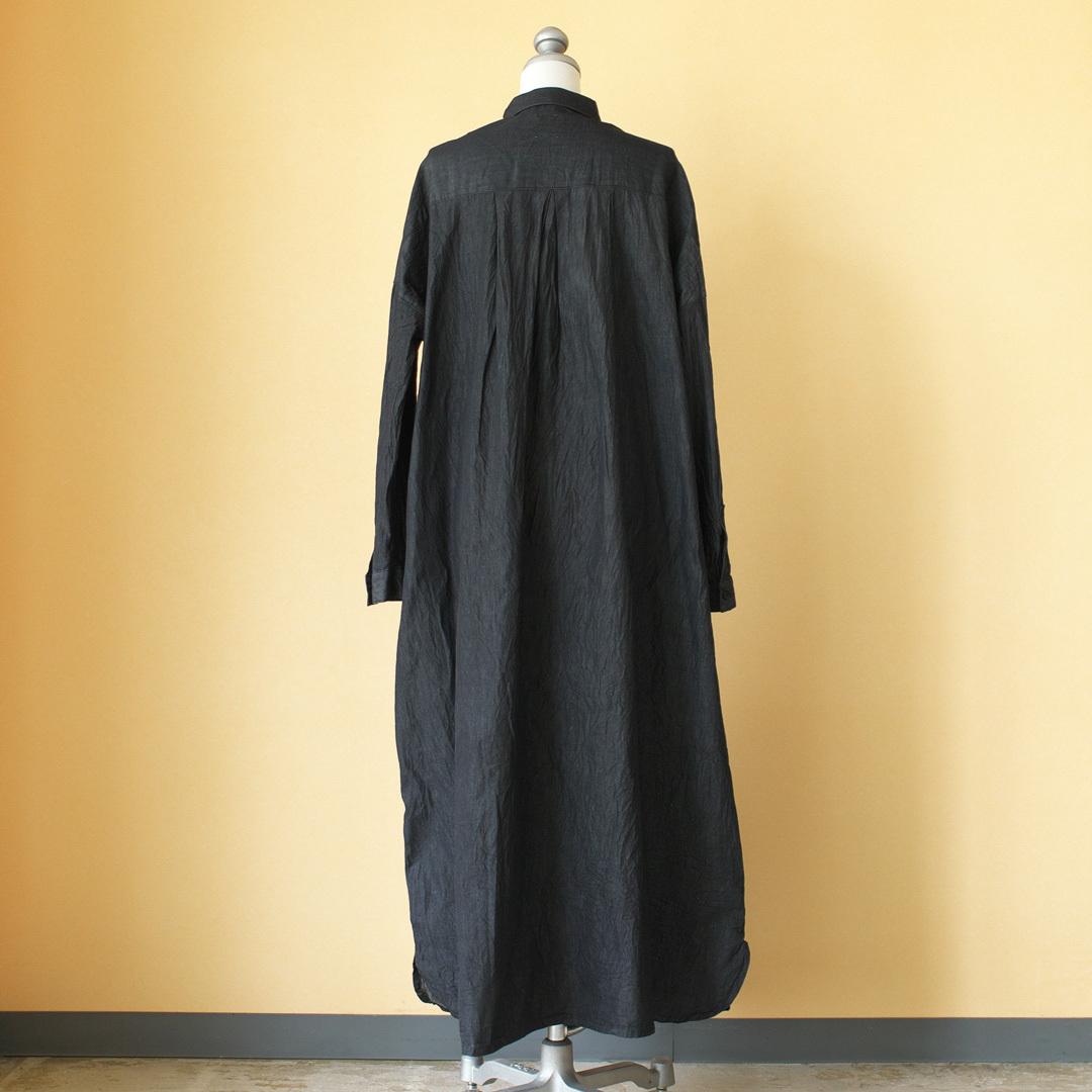 (g) グラム g182 black denim one piece ブラックデニムワンピース・ブラック