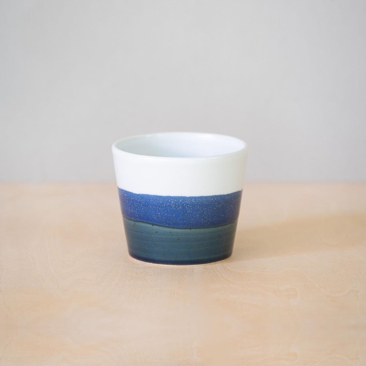 藍釉掛分 カップ S【予約販売】