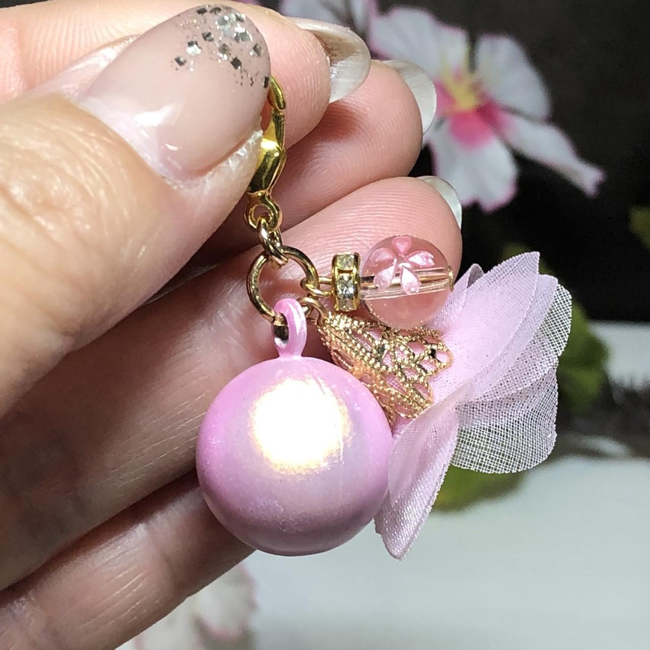 春限定♡水琴鈴と桜水晶チャーム
