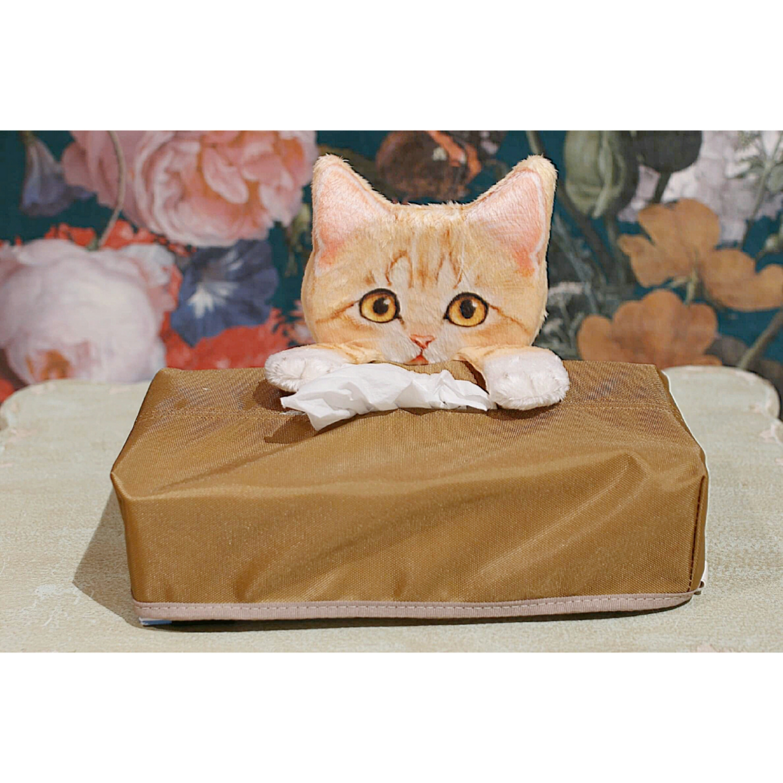 見守るサバトラ子猫のティッシュカバーケース/浜松雑貨屋 C0pernicus