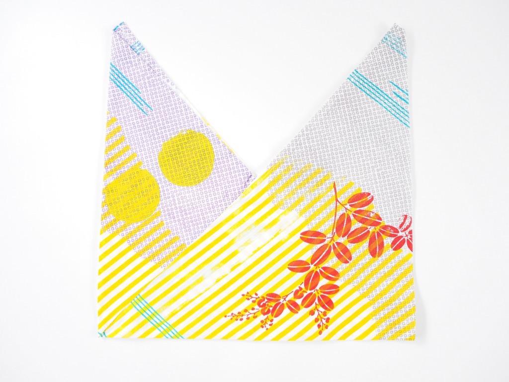 ケイコロール  あずま袋 「ねずの疋田と萩と縞とかすみ」