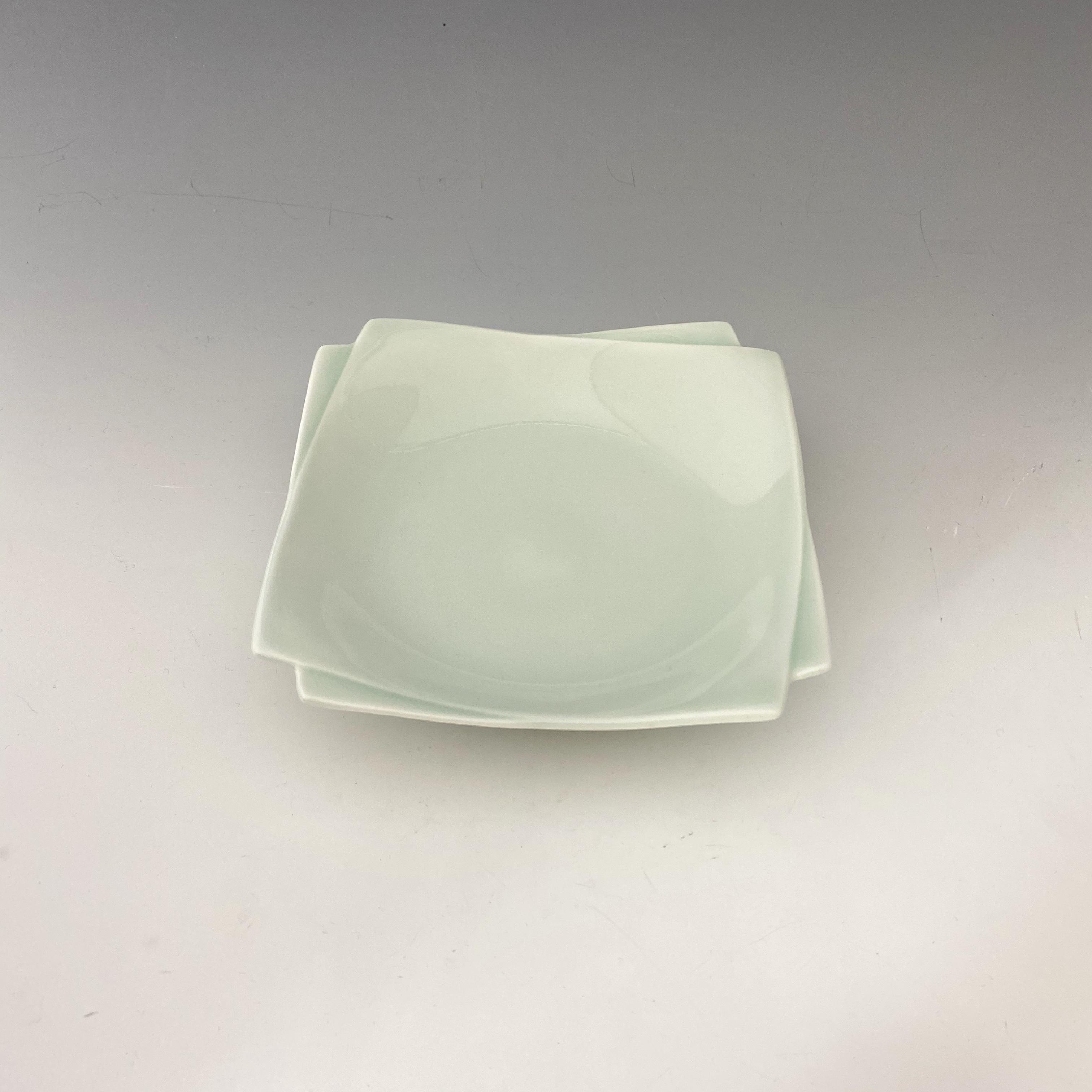 【中尾純】青白磁角皿(小)