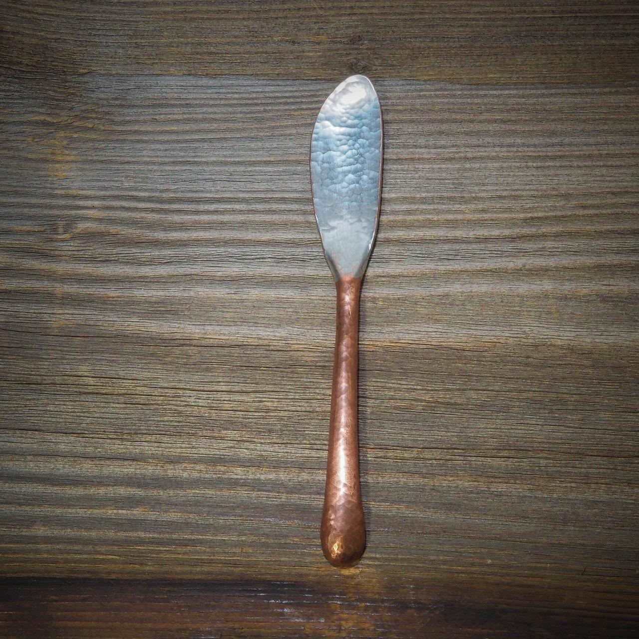 工房ゆり介 バターナイフ A 【銅 鍛金】