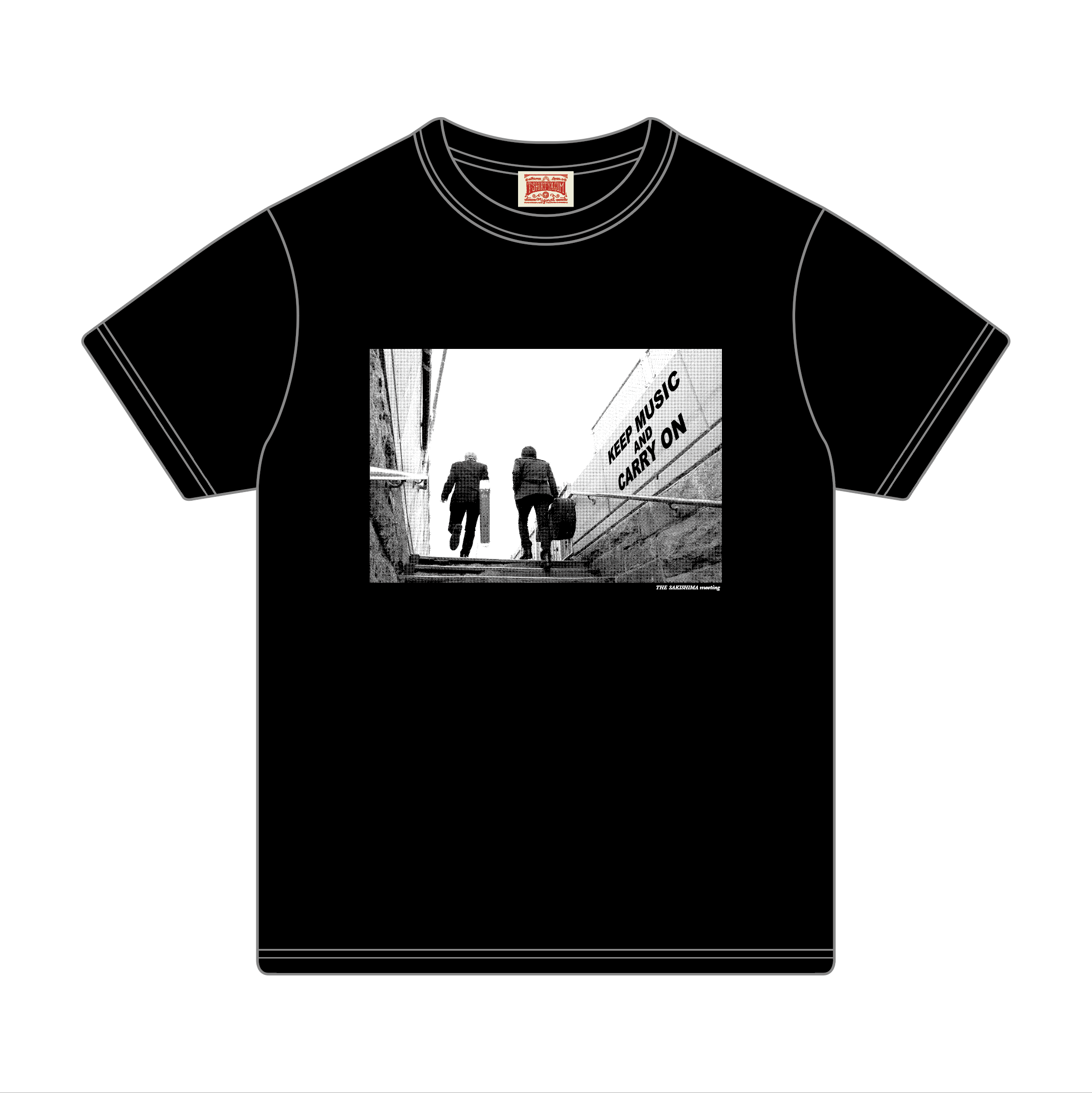 Tシャツ[KEEP MUSIC AND CARRY ON]BK