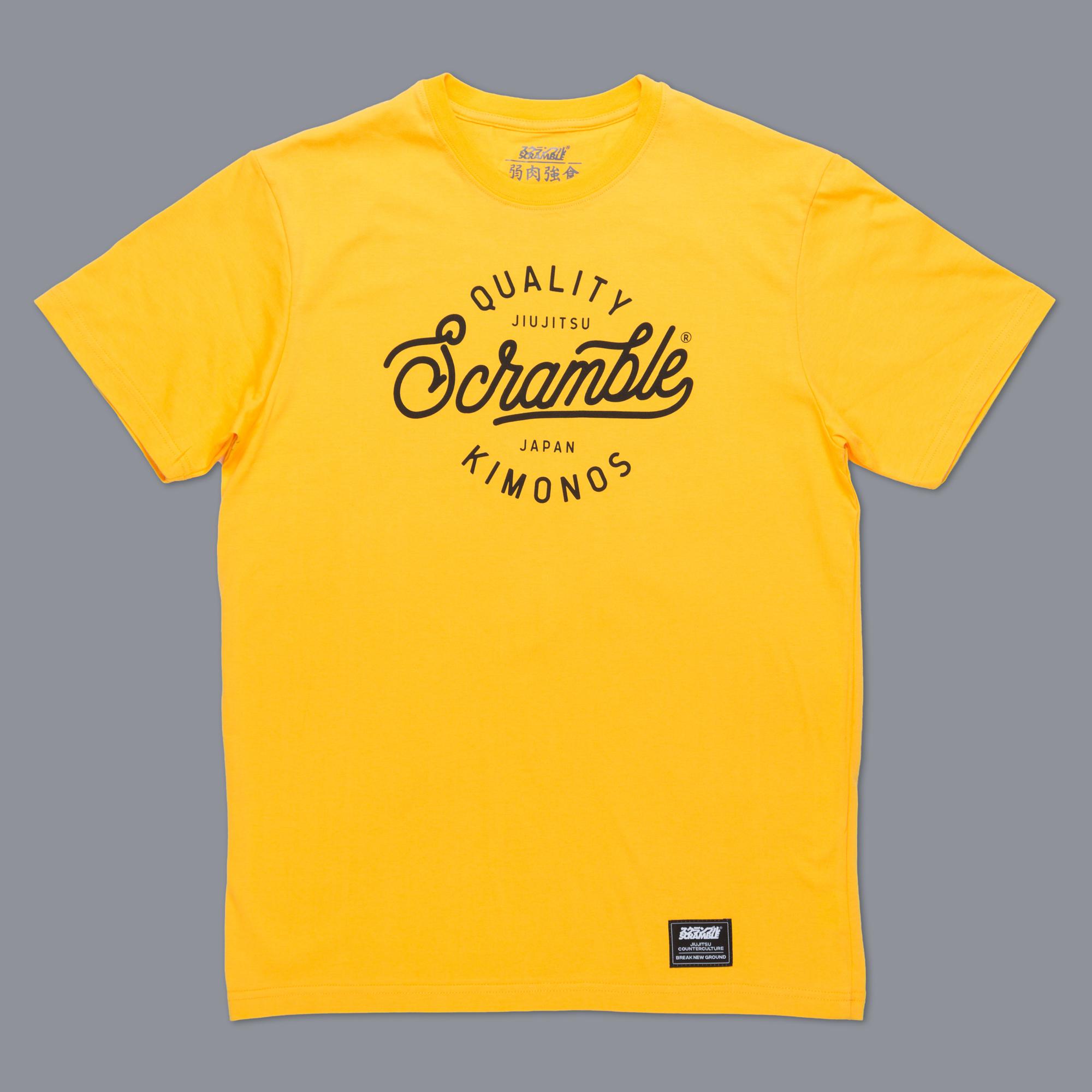Scramble Quality Kimonos Tee - Yellow|格闘技、柔術Tシャツ
