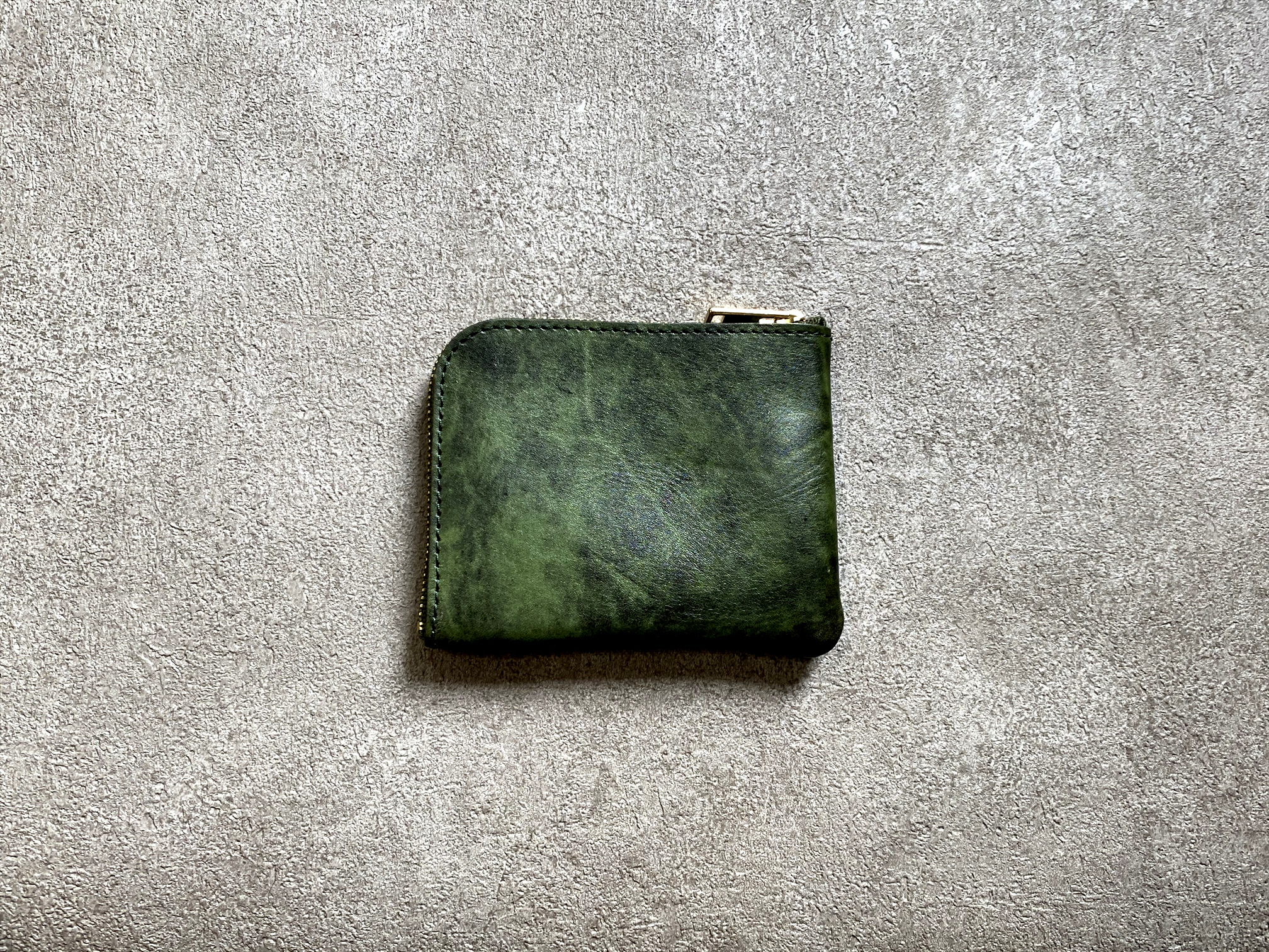 L-shaped Small Wallet: (Aniline Manufacturing method) Color : Orange