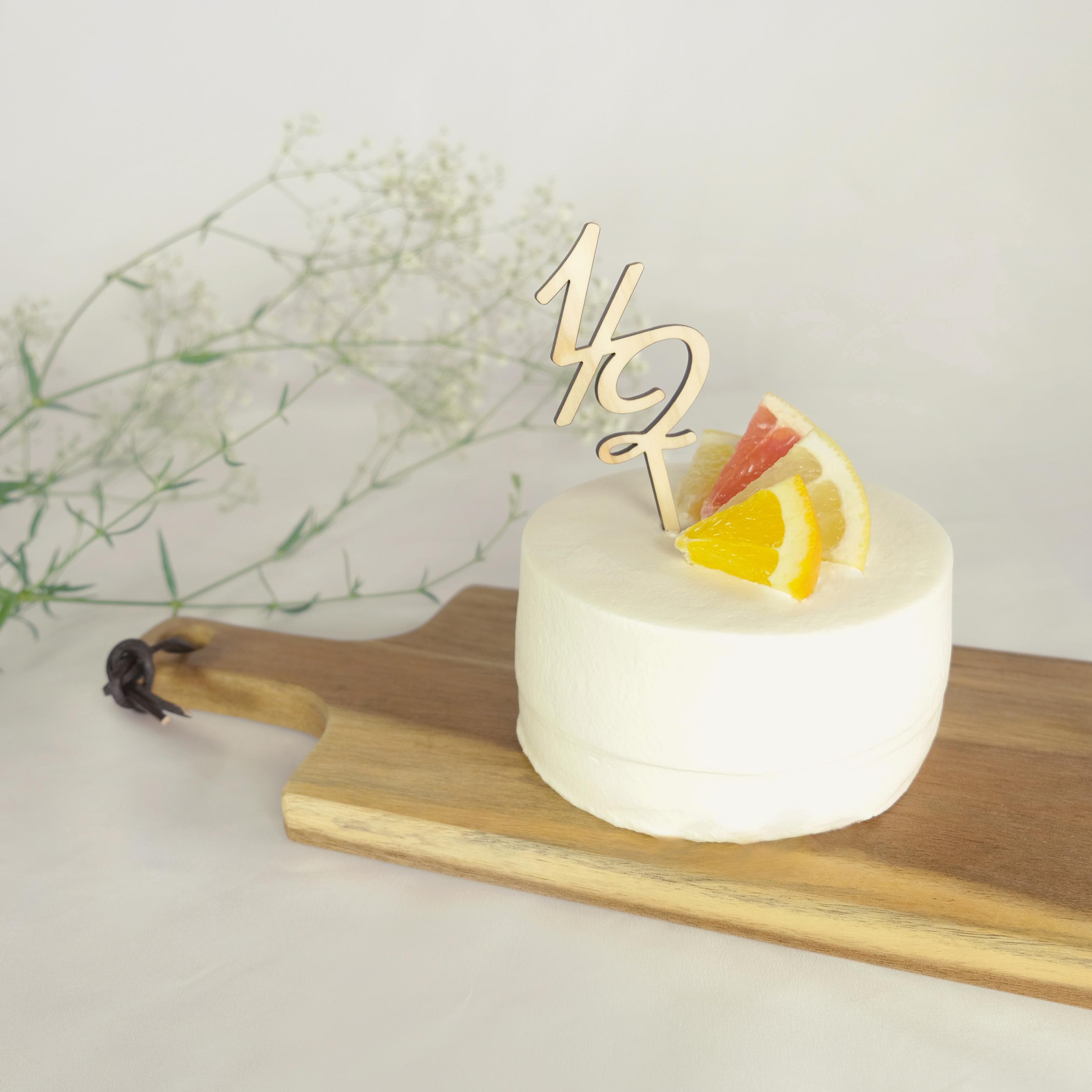 国産素材 木製ケーキトッパー 1 2 ハーフバースデイ用 Pretty Things
