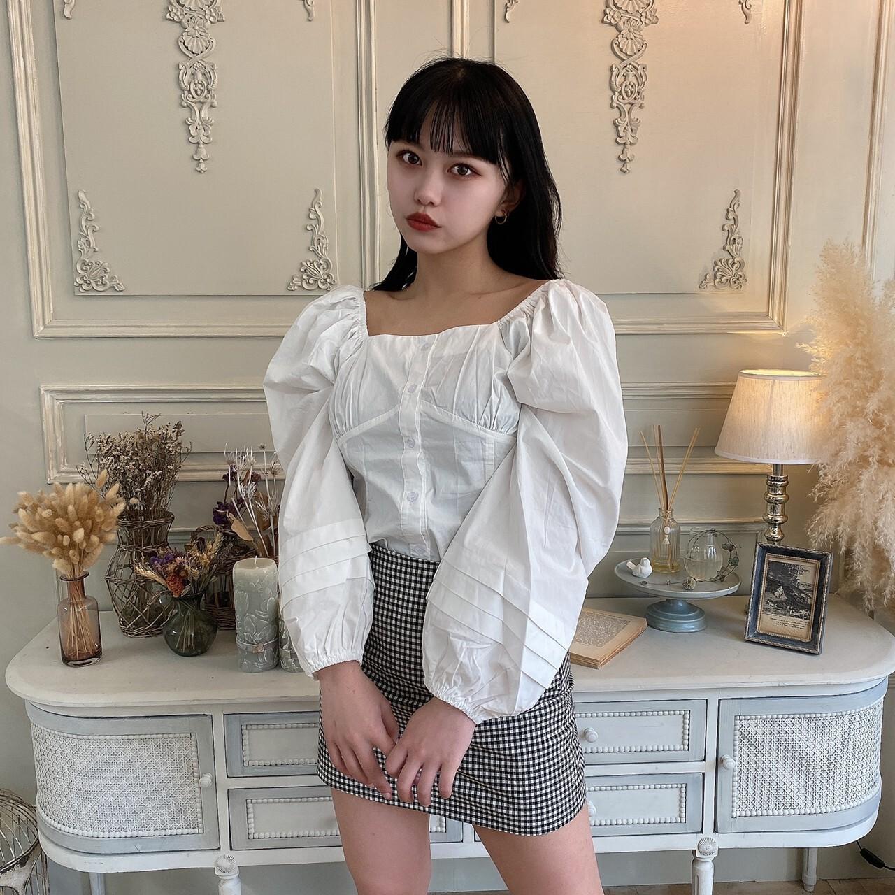 【Belle】LAST5 big puff blouse