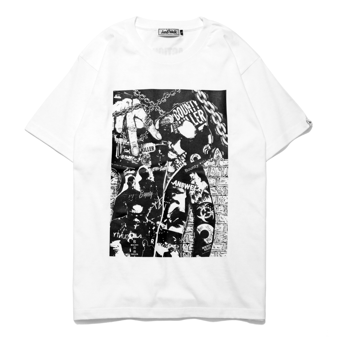"AnSWeR clothes ""BOUNTY KILLER"" S/S Tee [WHITE]"