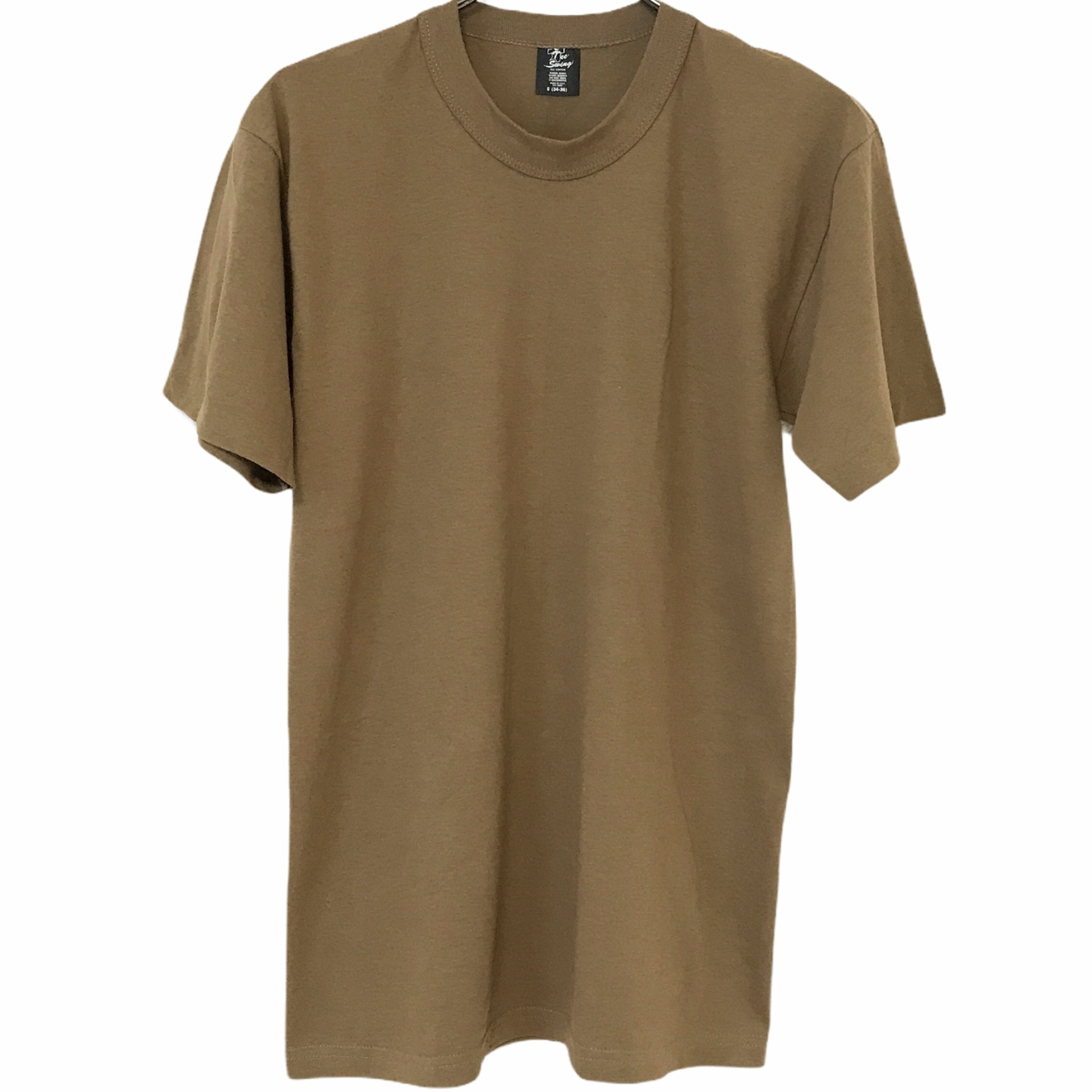 Dead Stock! 80's Tee Swing T-shirt made in USA Khaki