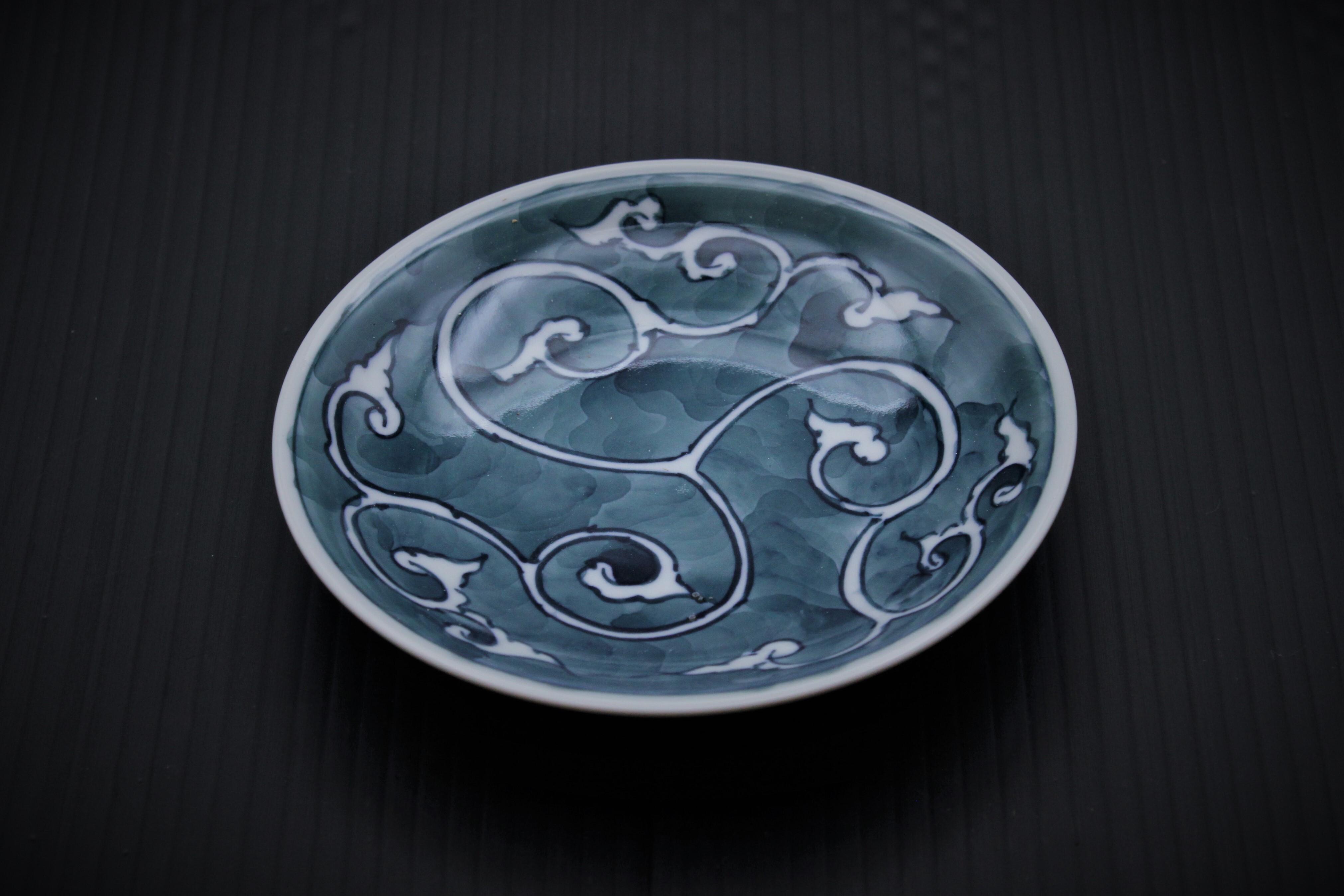 華唐草小皿