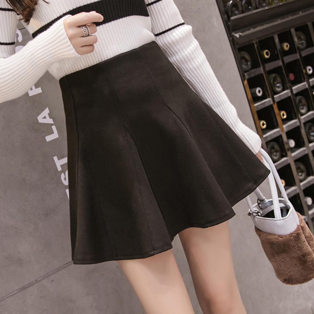 pleats mini skirt 2color