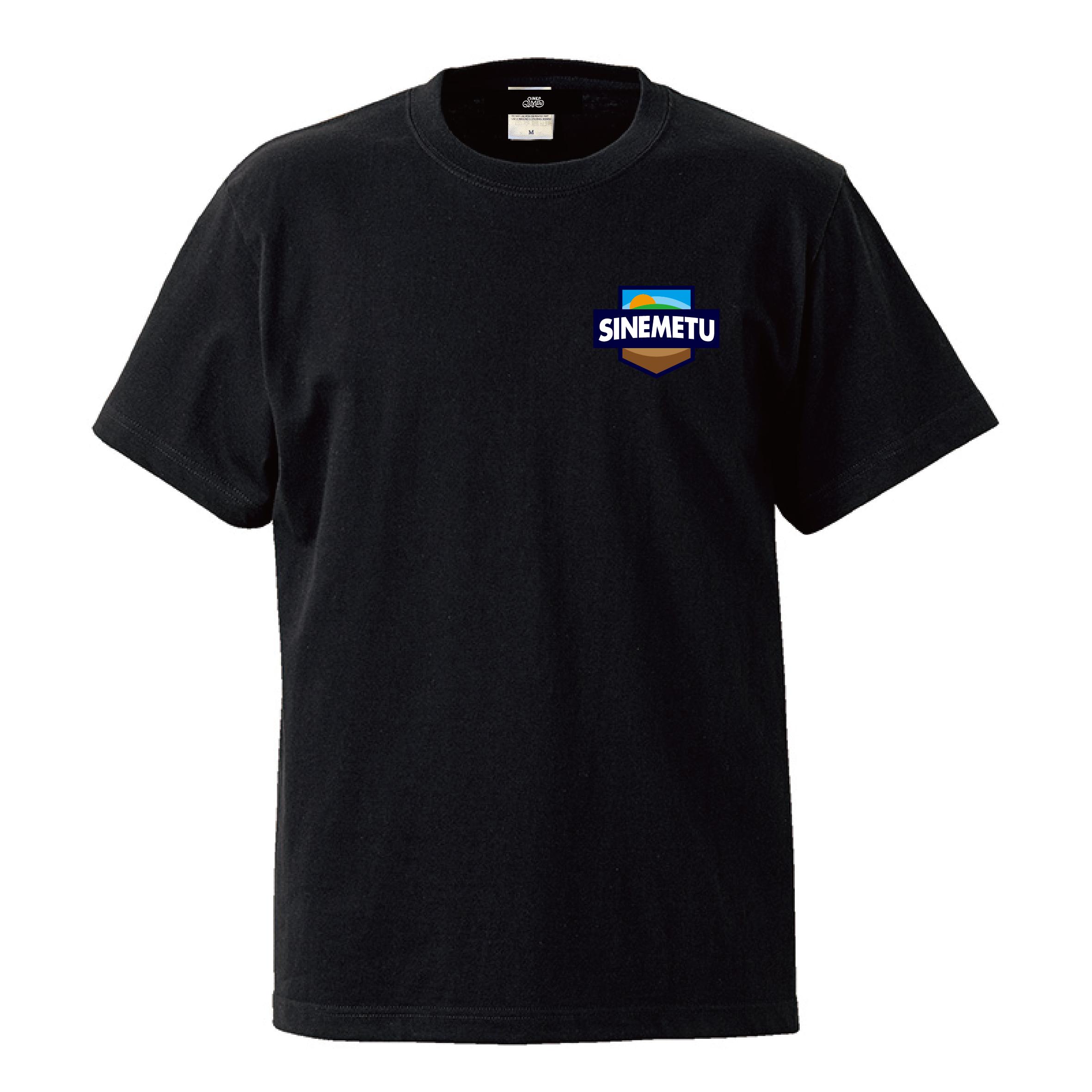 エンブレムTシャツ 半袖 / ブラック   SINE METU - シネメトゥ