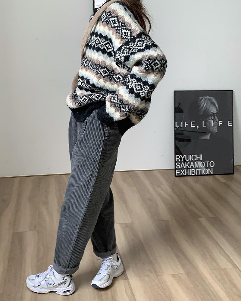 ノルディック柄セーター