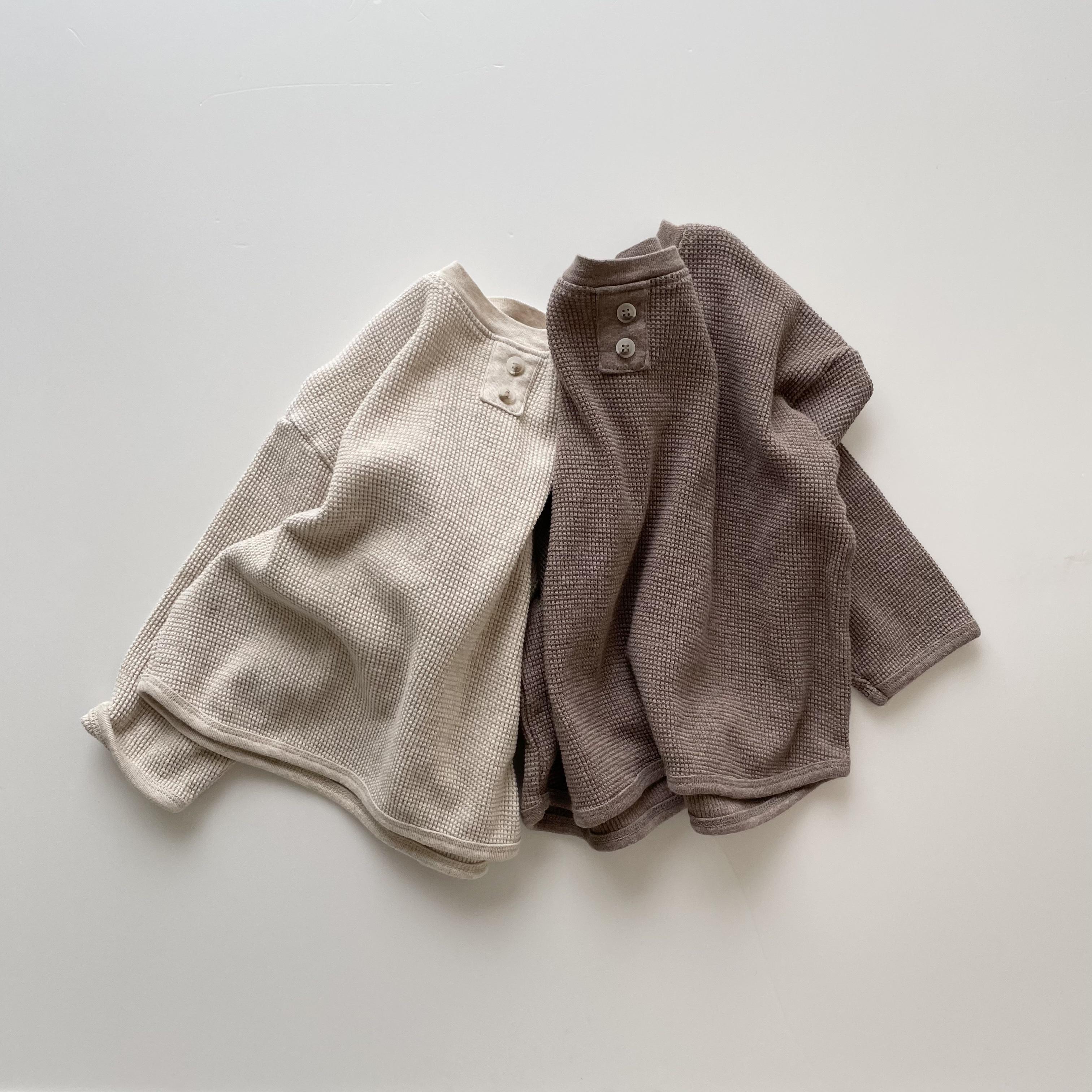 NO.1190 waffle pullover