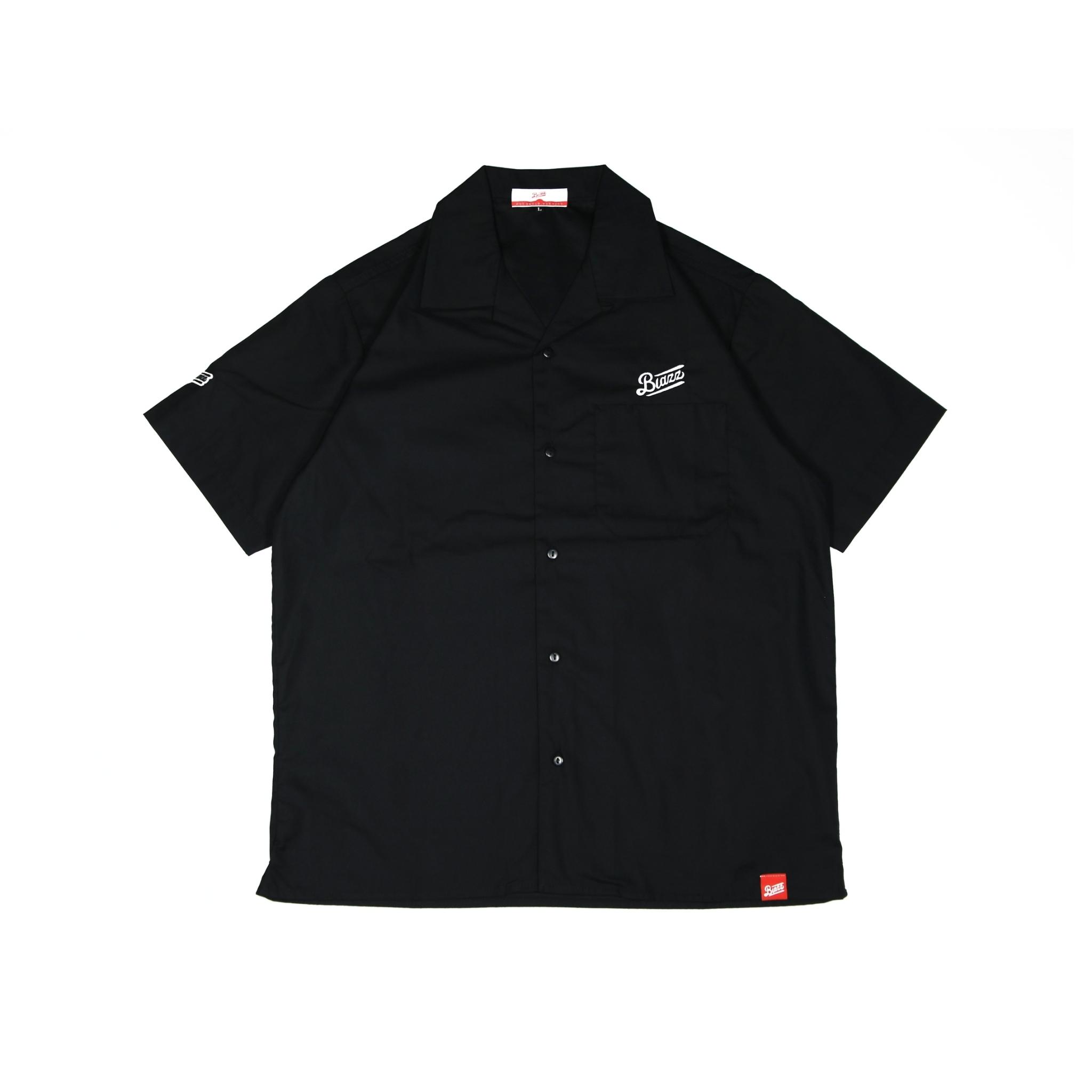 LOGO T/C OPEN SHIRT [BLACK]