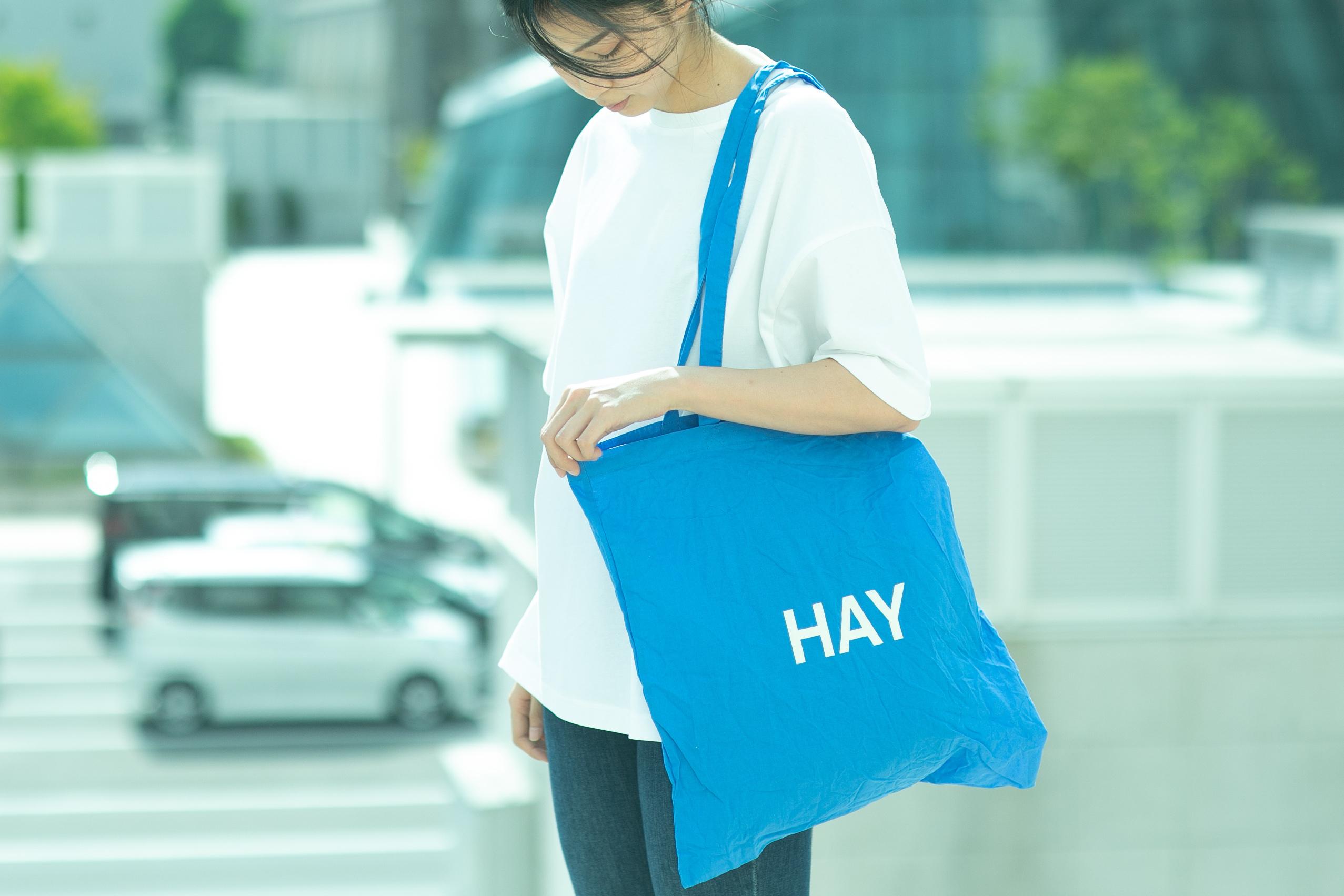 HAY / BLUE TOTE BAG